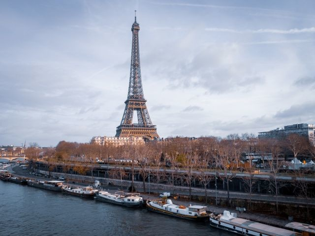 The Eiffel tower is seen in Paris