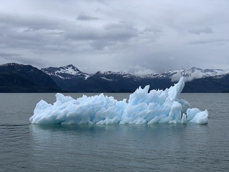 A melting glacier.