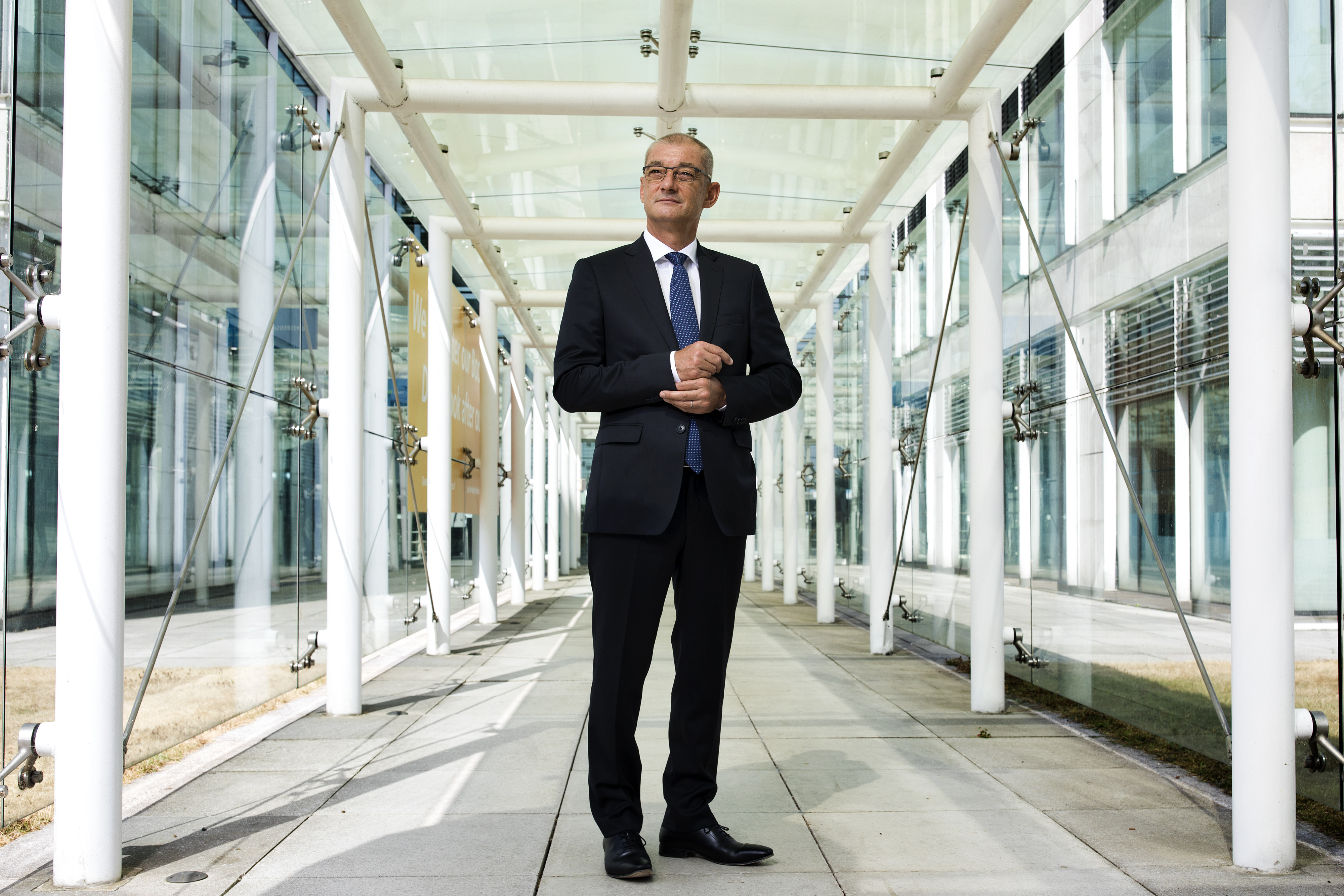 Loic Tassel, President of Europe for Procter & Gamble Co. poses for a photograph at the company offices in Weybridge, UK, on Wednesday, Jul. 25, 2018. Photographer: Simon Dawson/Procter & Gamble