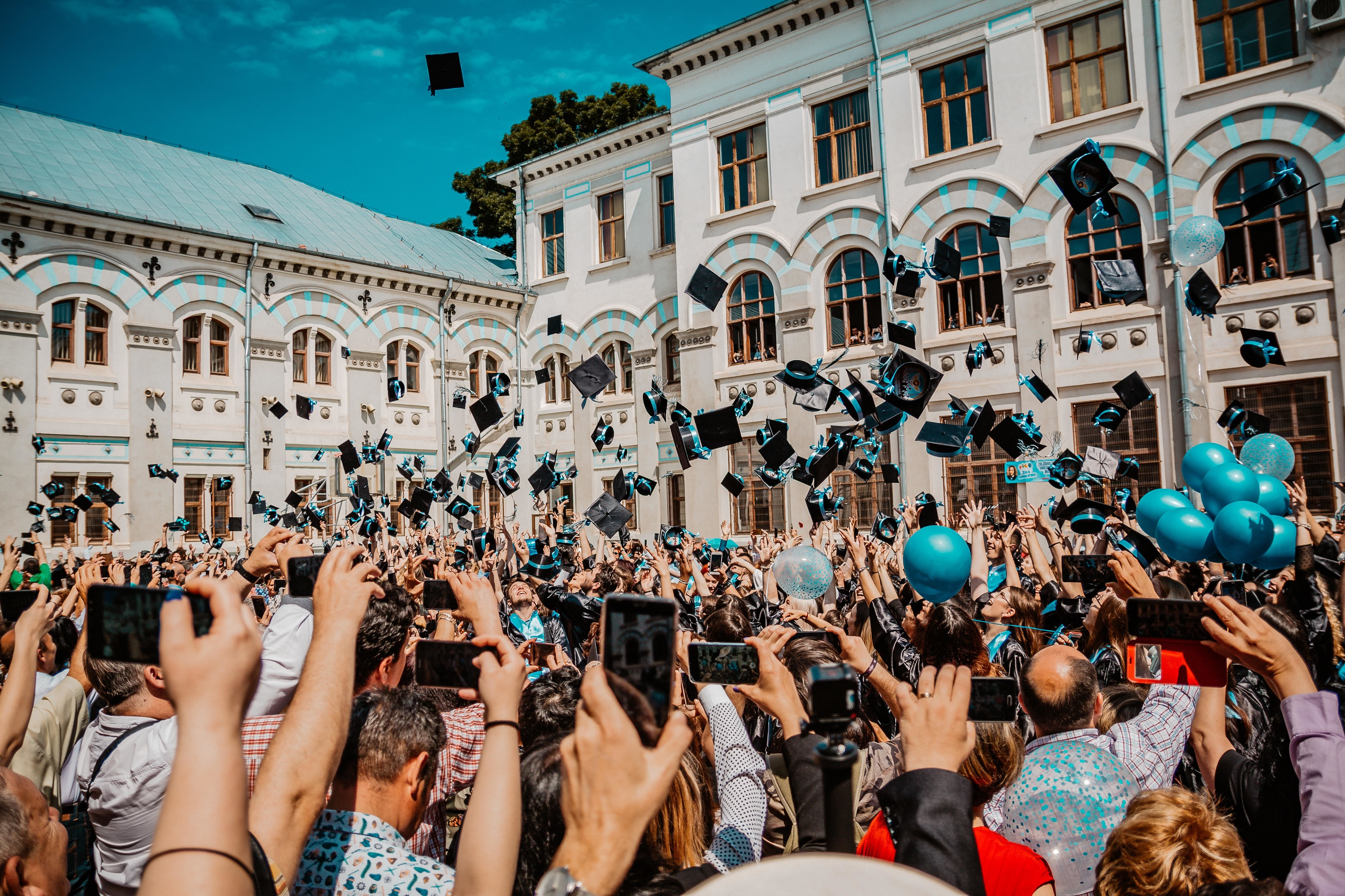 graduation ceremony at a university
