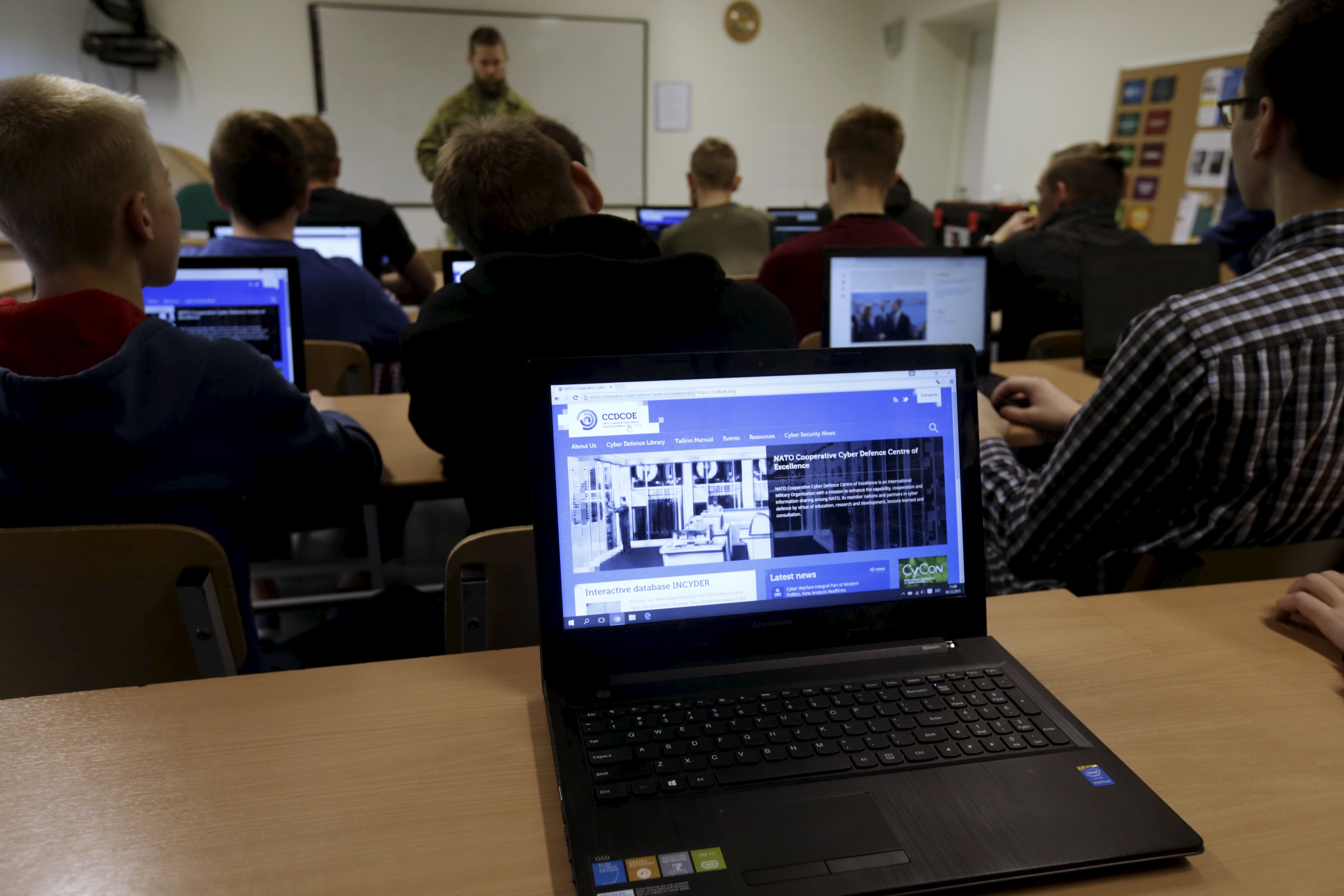 Estonian students attend cybersecurity classes