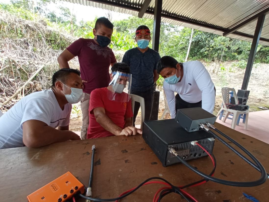 remote communities across the Amazon are protecting themselves from outbreaks of COVID-19 by staying connected via satellite and innovative radio technologies that can carry digital data
