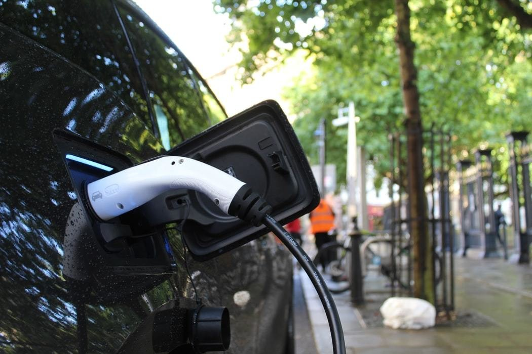 Electric car charging in Birmingham City Centre