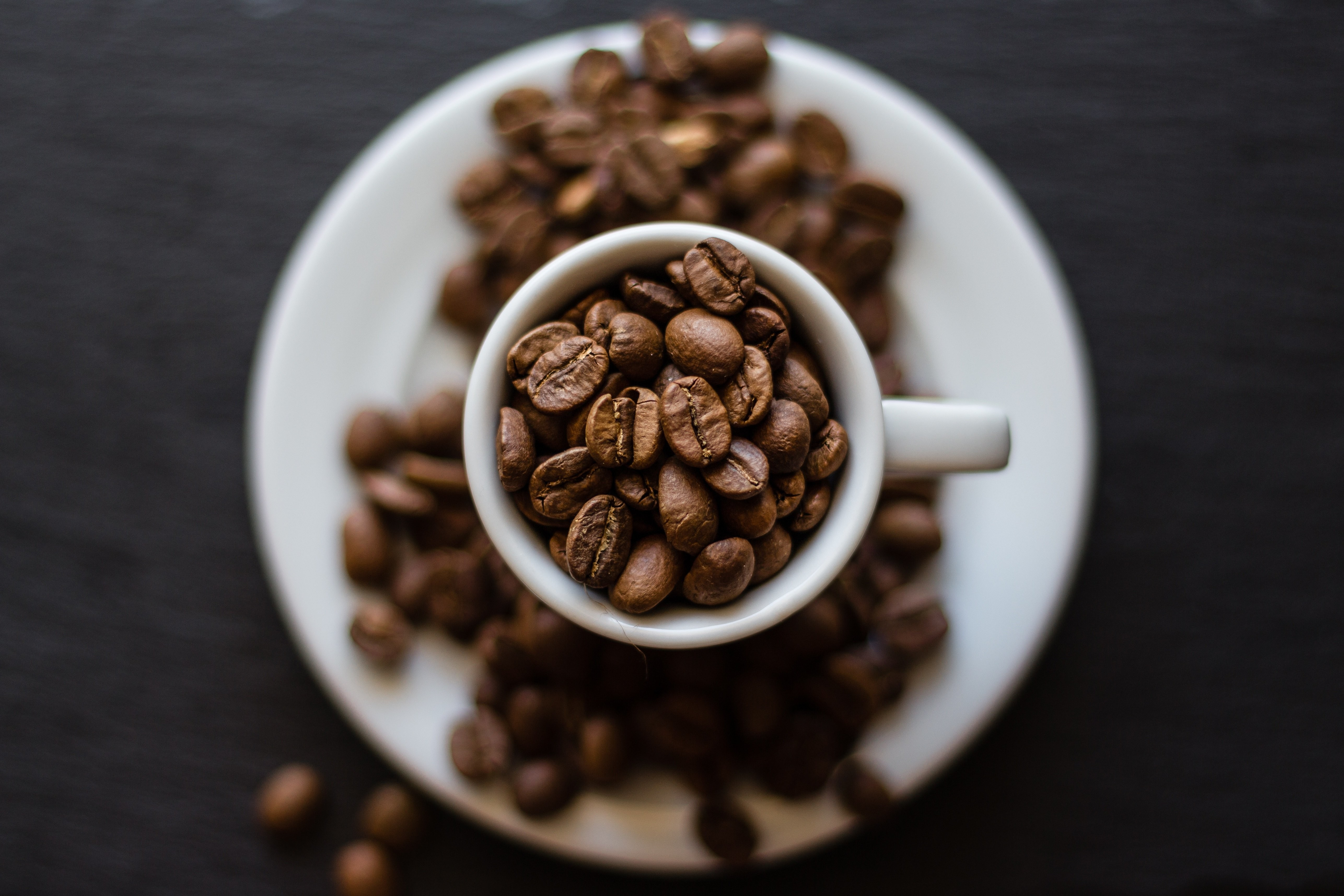 shown here are some coffee beans. Brazil was the country that produced the most kilograms of coffee in 2020.