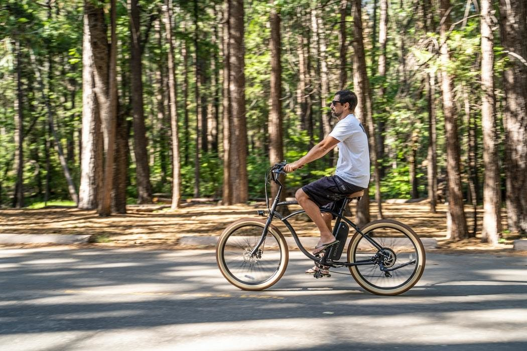 image of a person using an electric bike