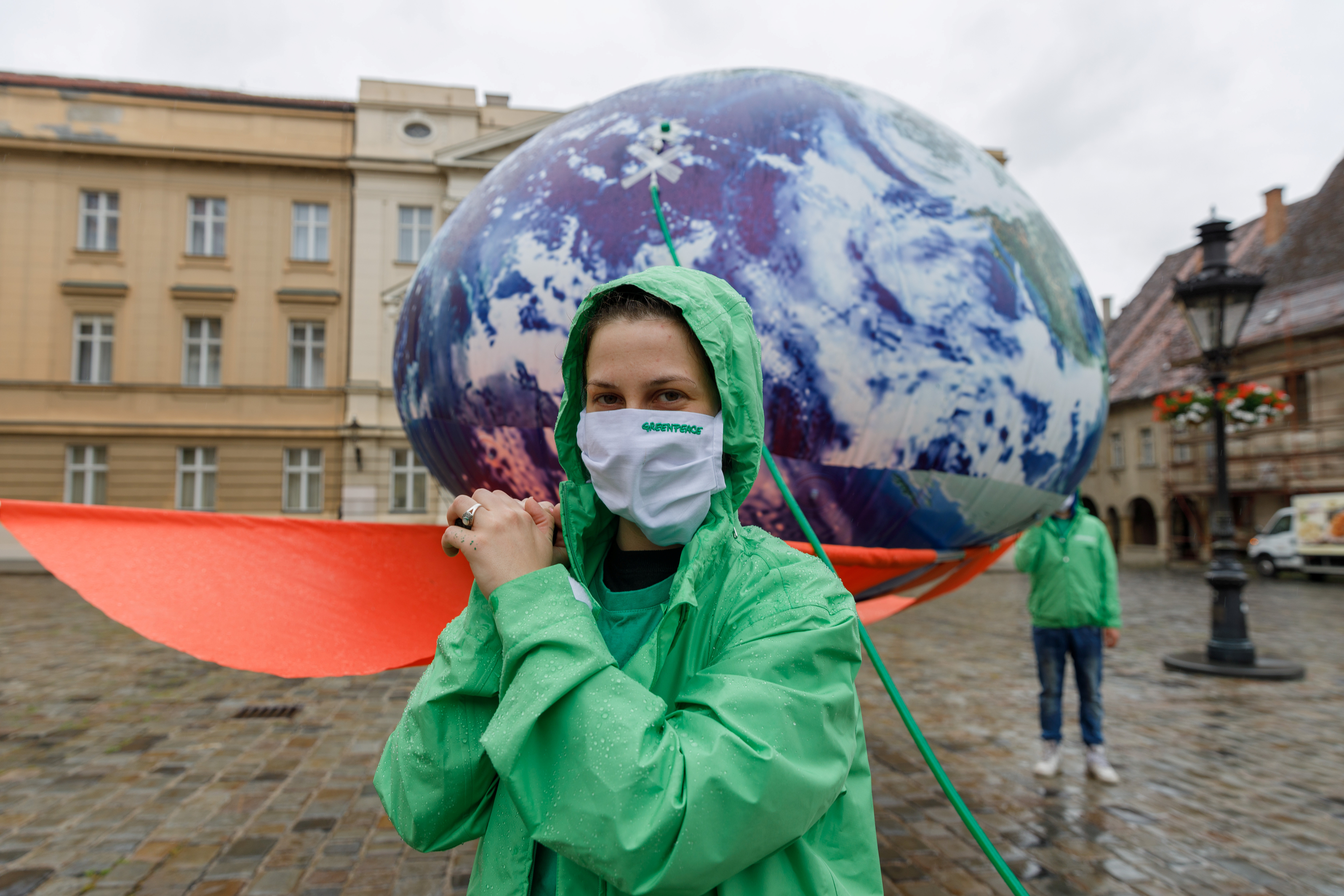 """activists campaigning for a """"Green Recovery"""""""