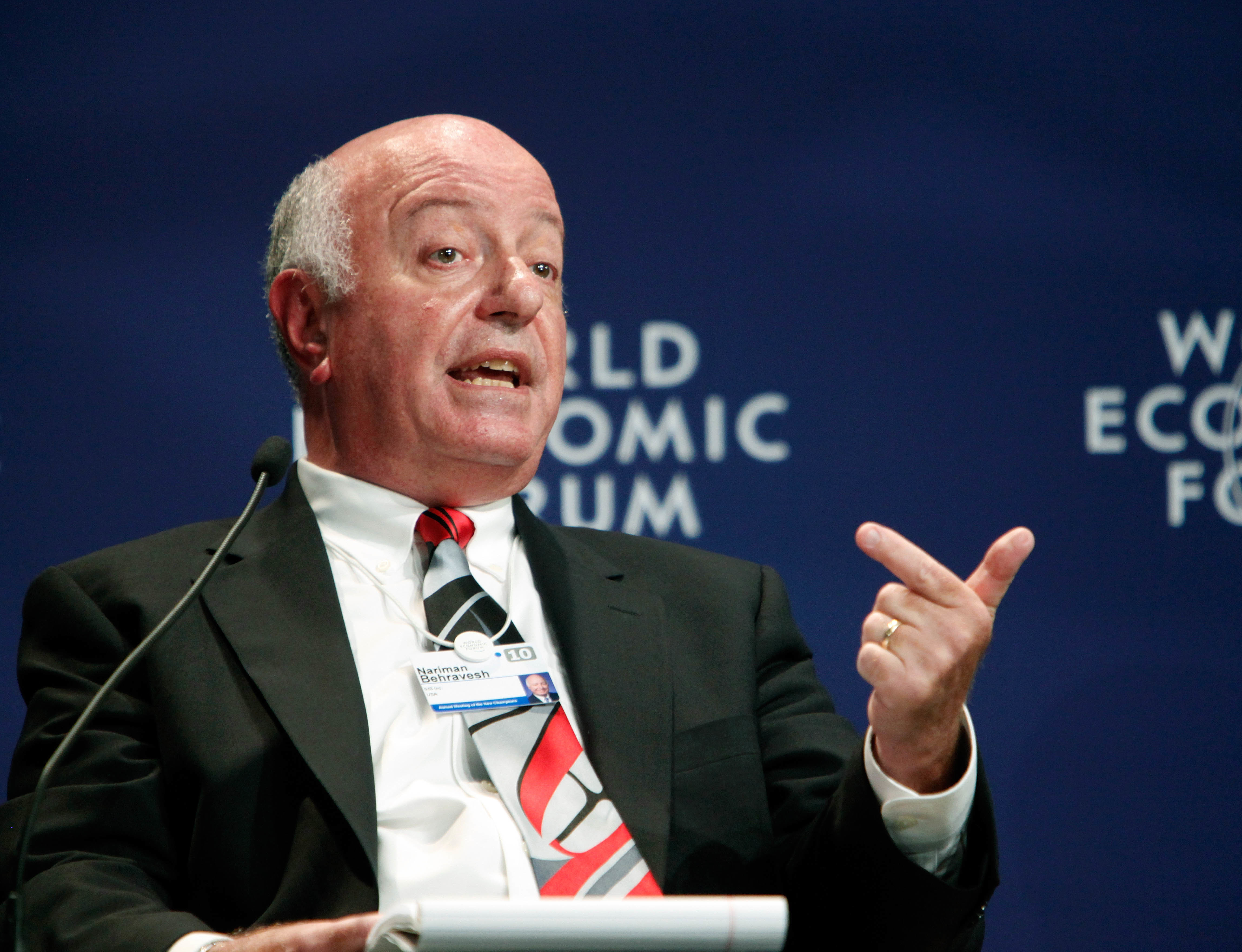 "Nariman Behravesh, Chief Economist, IHS, speaks during the ""Global Economic Outlook"" session at the Annual Meeting of the New Champions in Tianjin, China, September 15, 2010.Copyright <a href=""http://www.weforum.org"">World Economic Forum</a> (<a href=""http://www.weforum.org"">www.weforum.org</a>)/Qilai Shen"