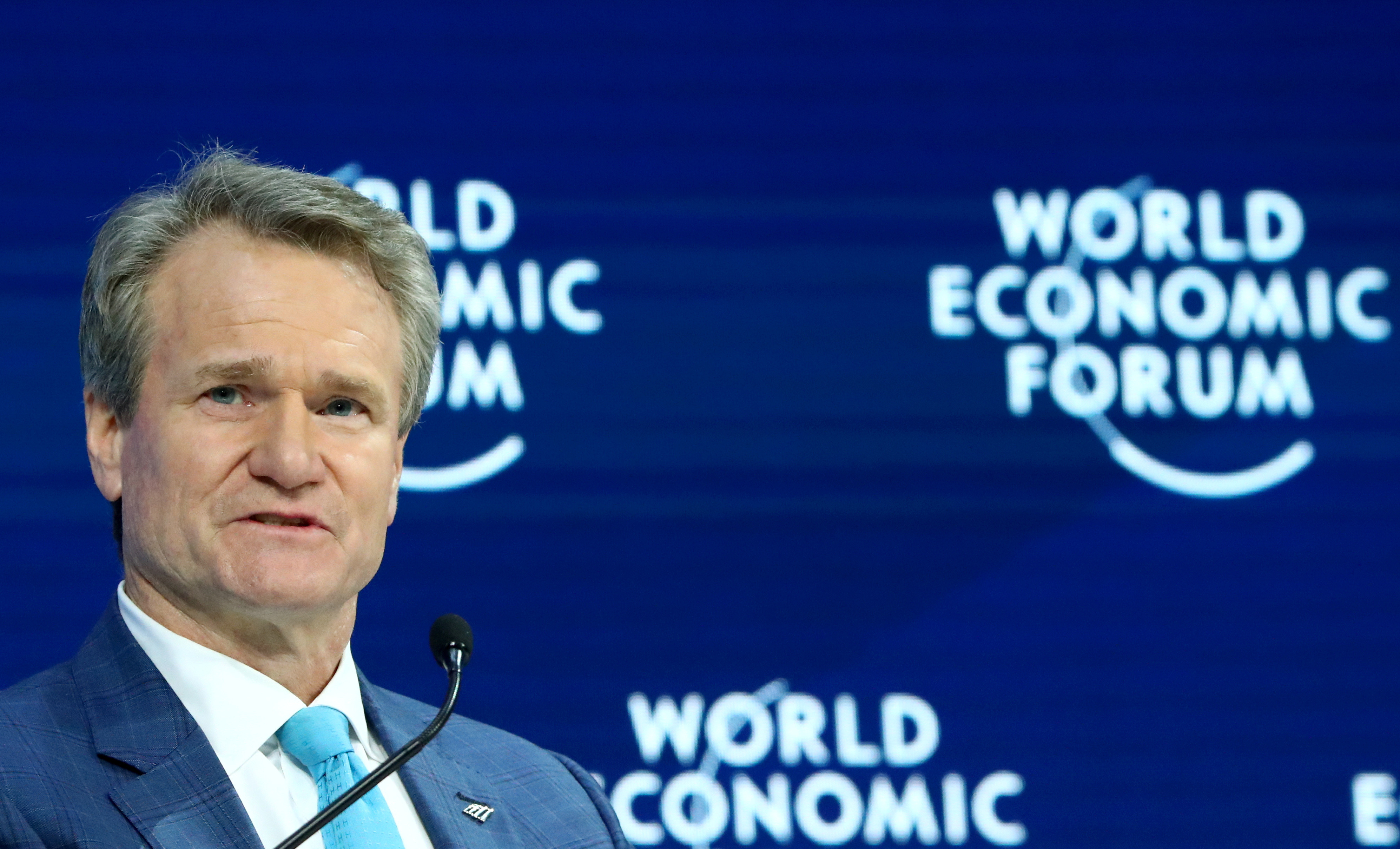 Chairman and CEO of Bank of America Brian T. Moynihan attends a session at the 50th World Economic Forum (WEF) annual meeting in Davos, Switzerland, January 21, 2020. REUTERS/Denis Balibouse - RC2HKE9W9ELH