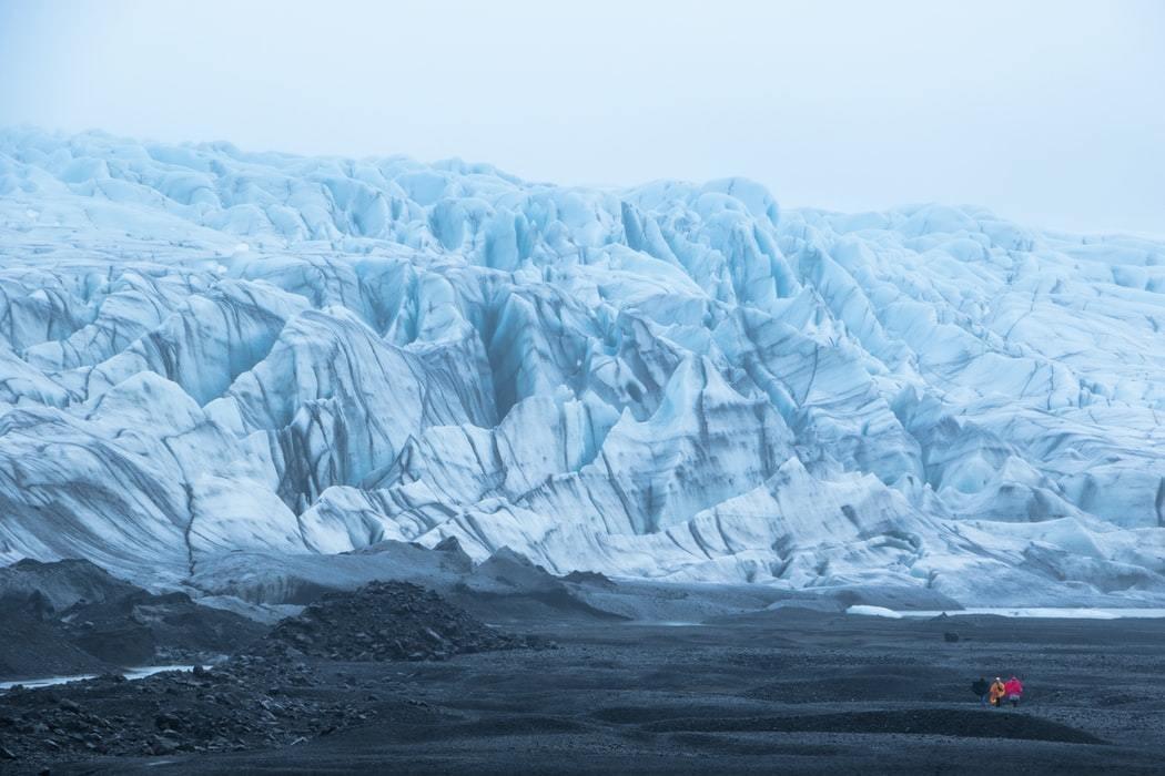A glacier in Iceland.