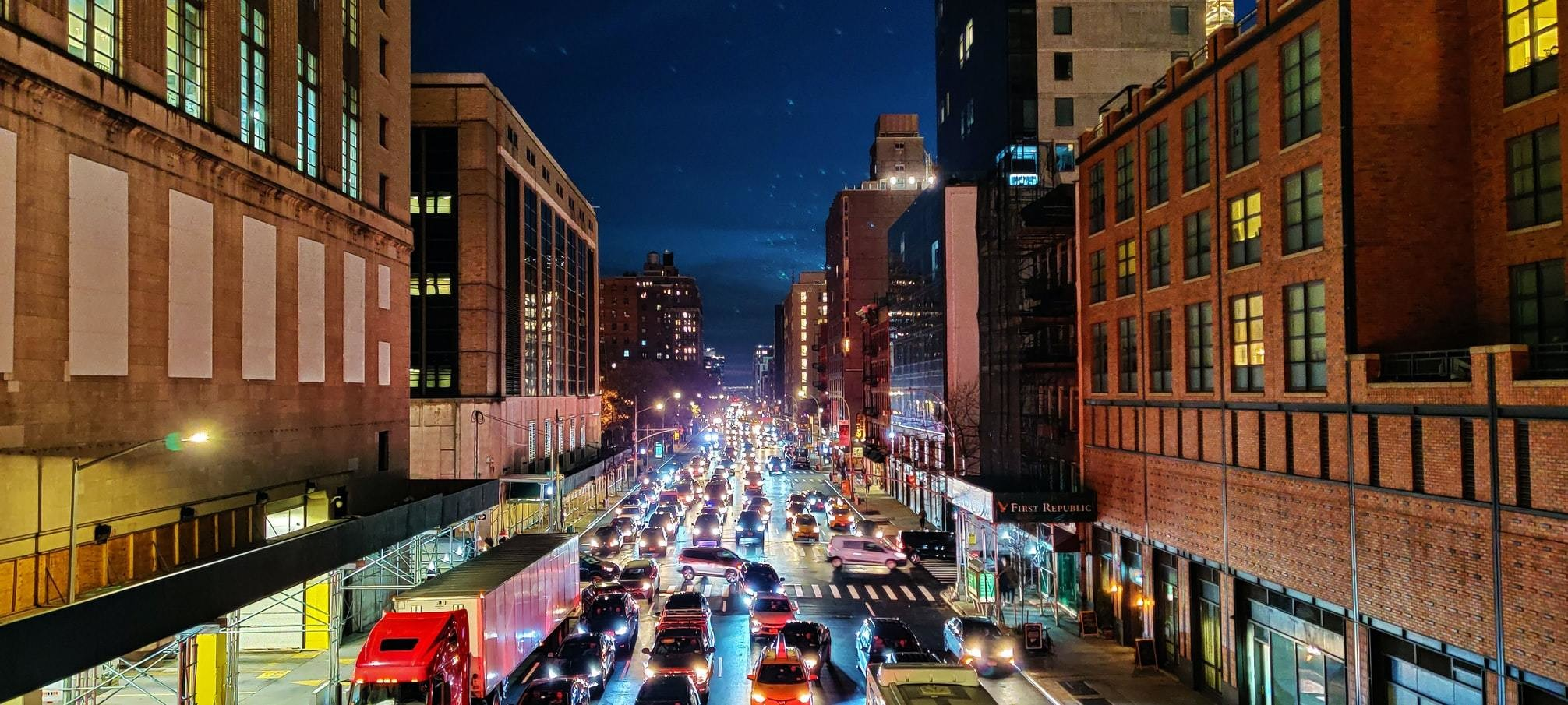image of a city road filled with cars