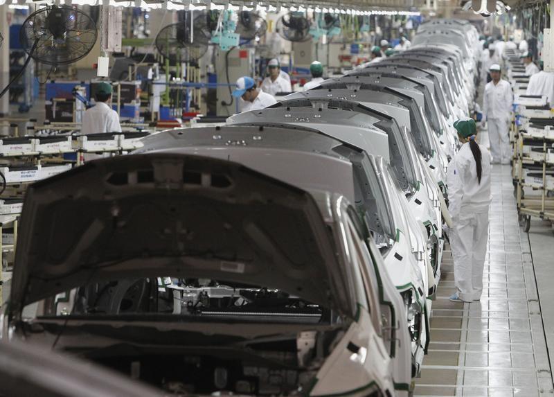 7月21日、東南アジアで新型コロナウイルスの感染拡大に歯止めがかかわず、生産拠点を置く日本企業のサプライチェーン(供給網)に重大な懸念が生じつつある。長期化した場合、自動車だけでなく半導体や機械など幅広い業種の生産下押しになりかねない。写真はタイのアユタヤにあるホンダ工場、2012年3月撮影