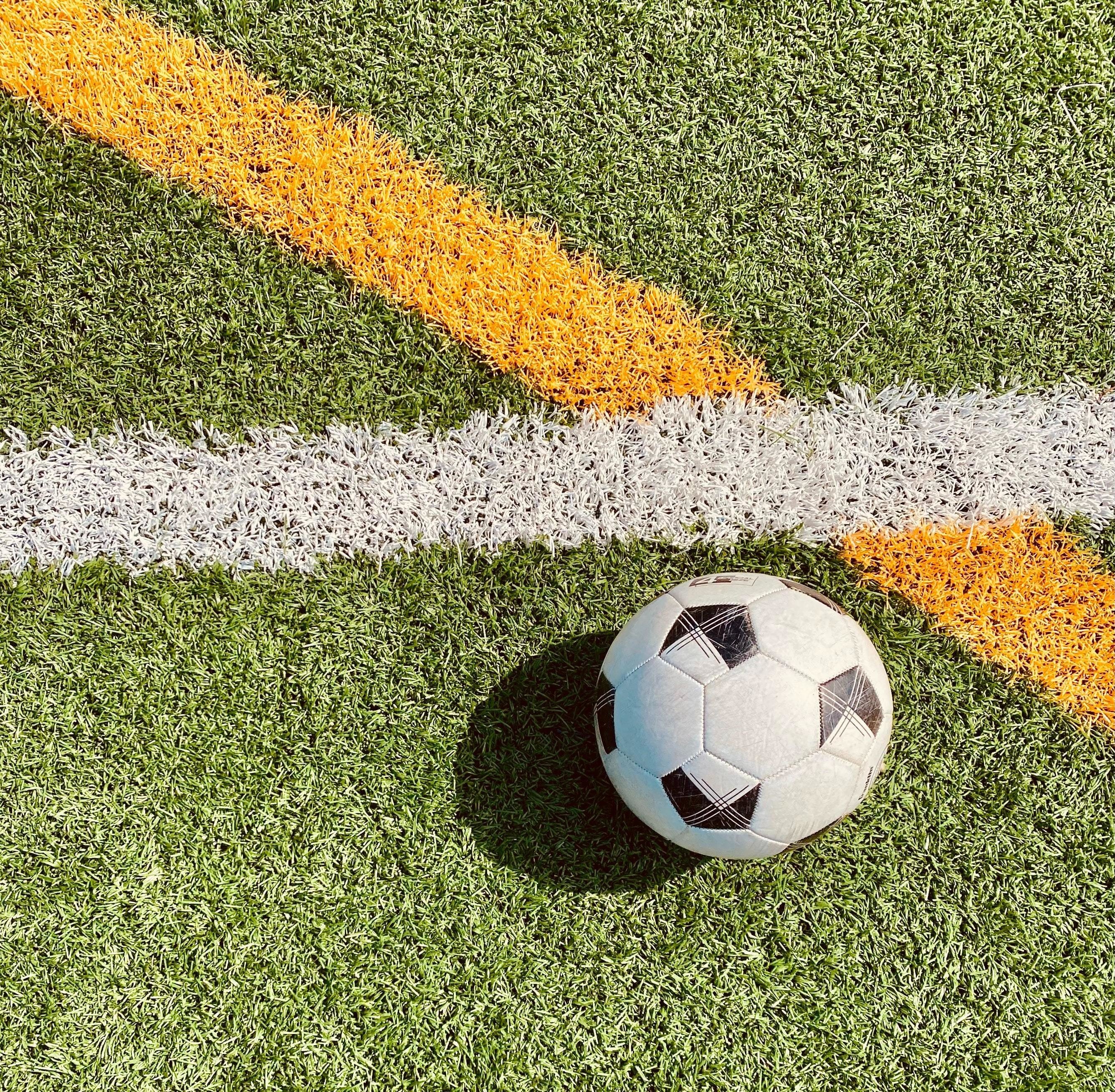 A soccer ball is pictured here.
