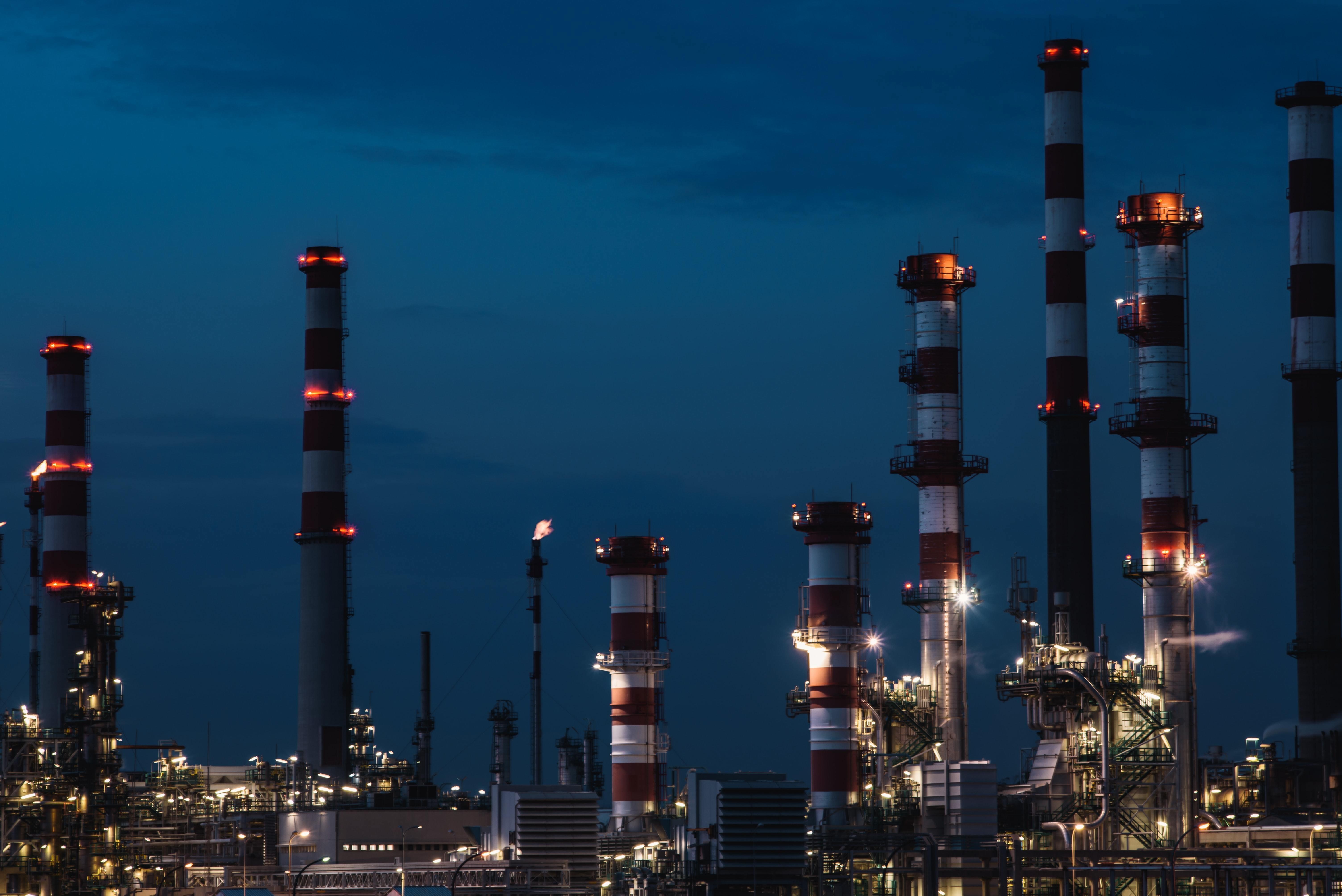 Oil refinery in Portugal.