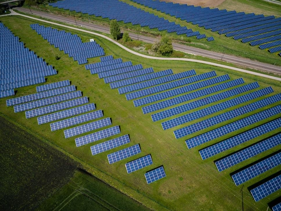 A large solar power farm.