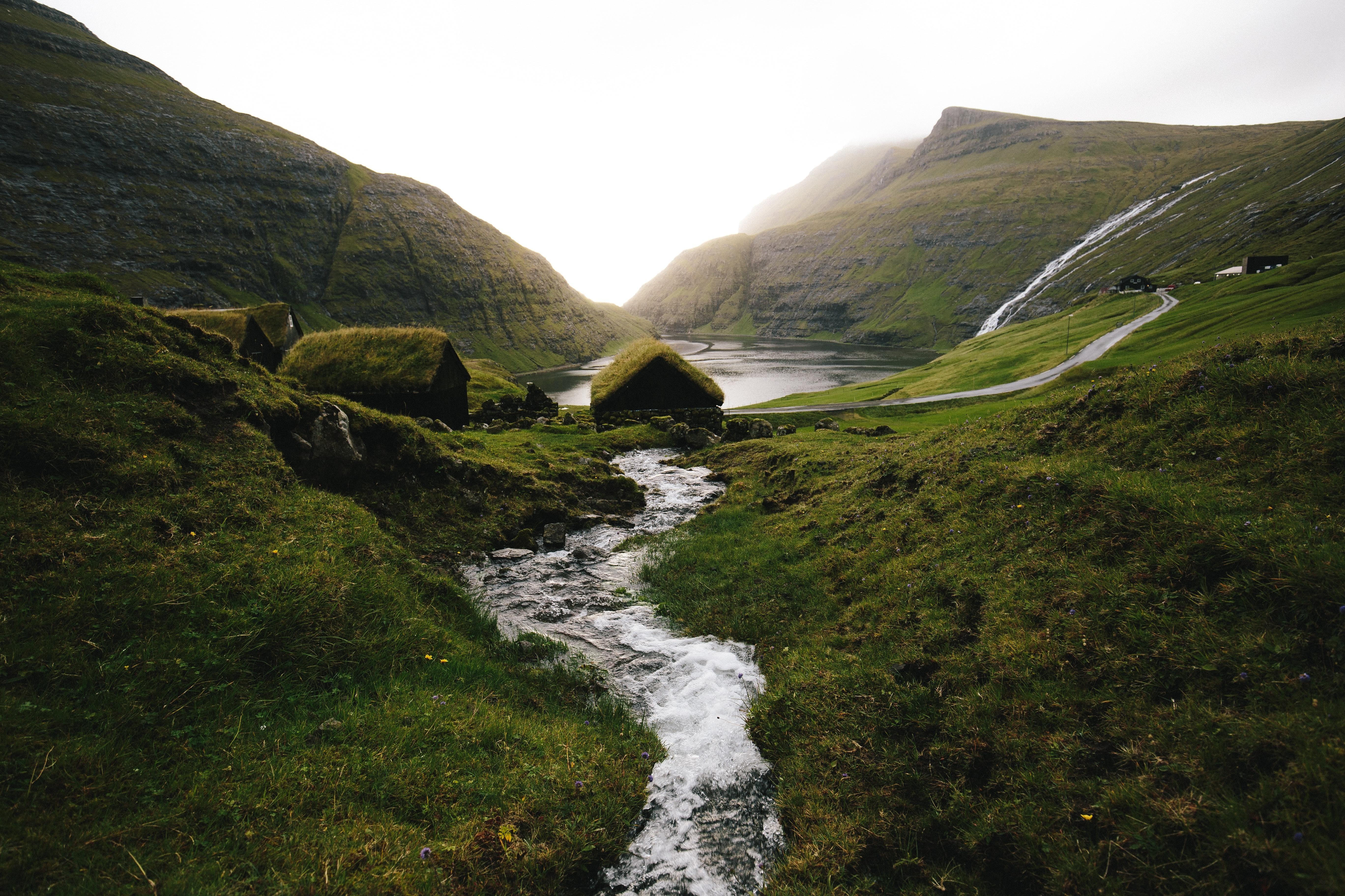 image of water in Saksun, Faroe Islands