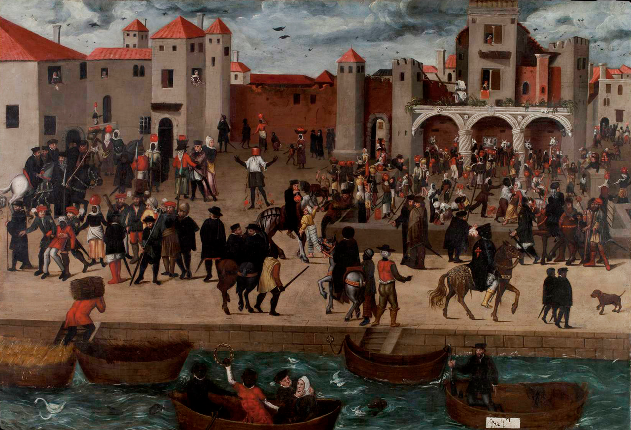 A depiction of multiracial 16th-century Lisbon