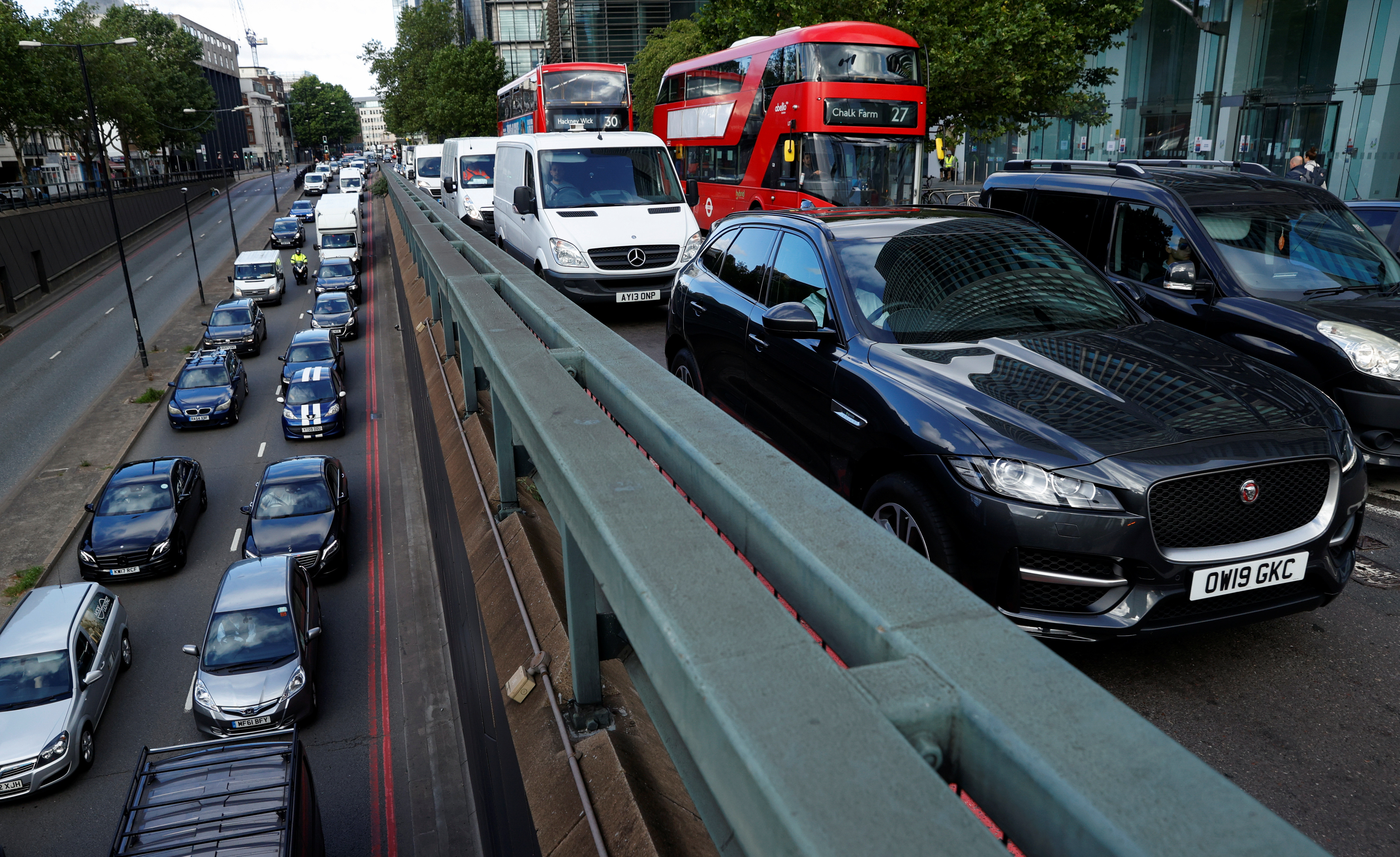 Britain petrol electric car green revolution Boris Johnson 2030