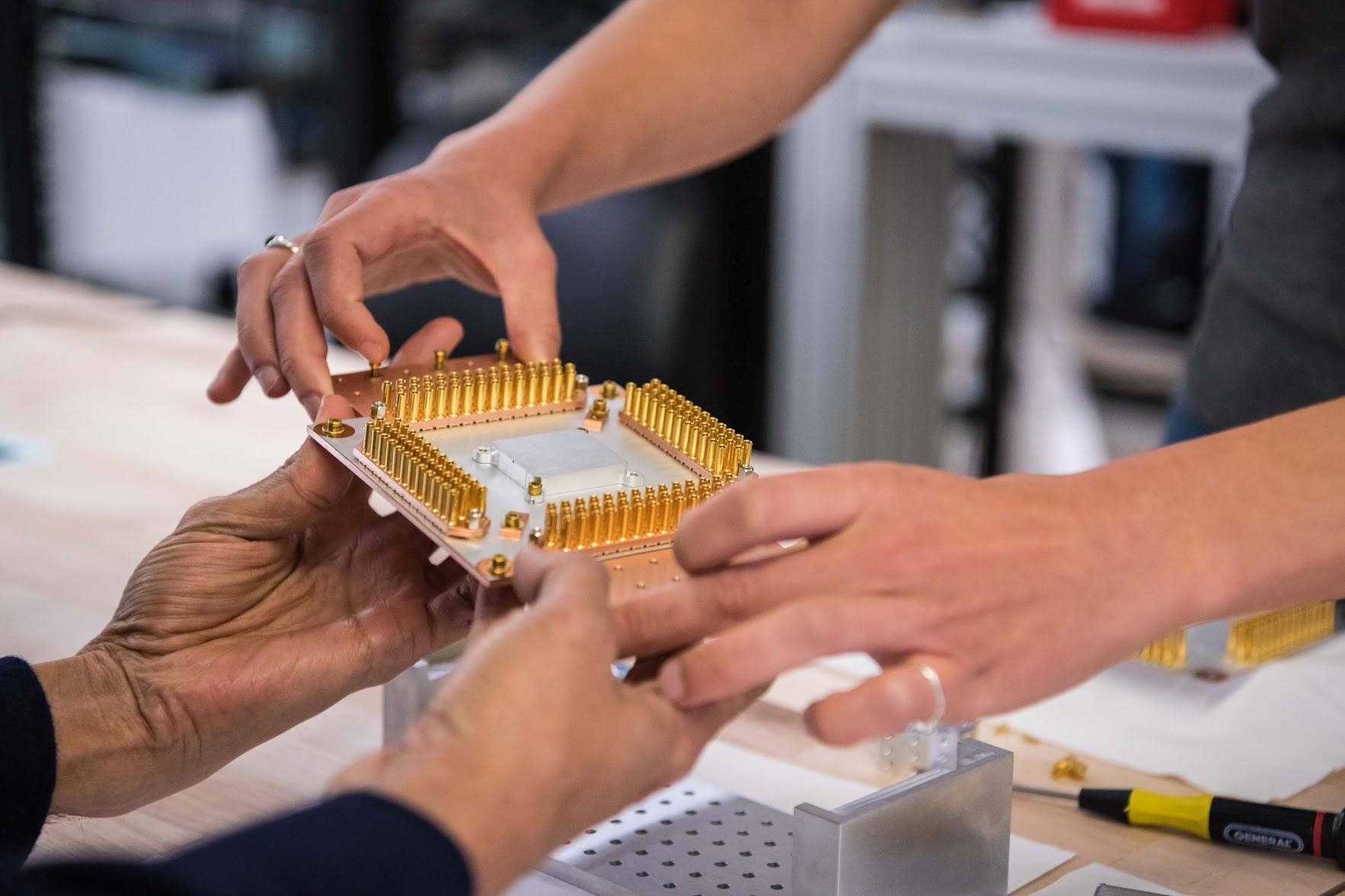 A component of Google's Quantum Computer.