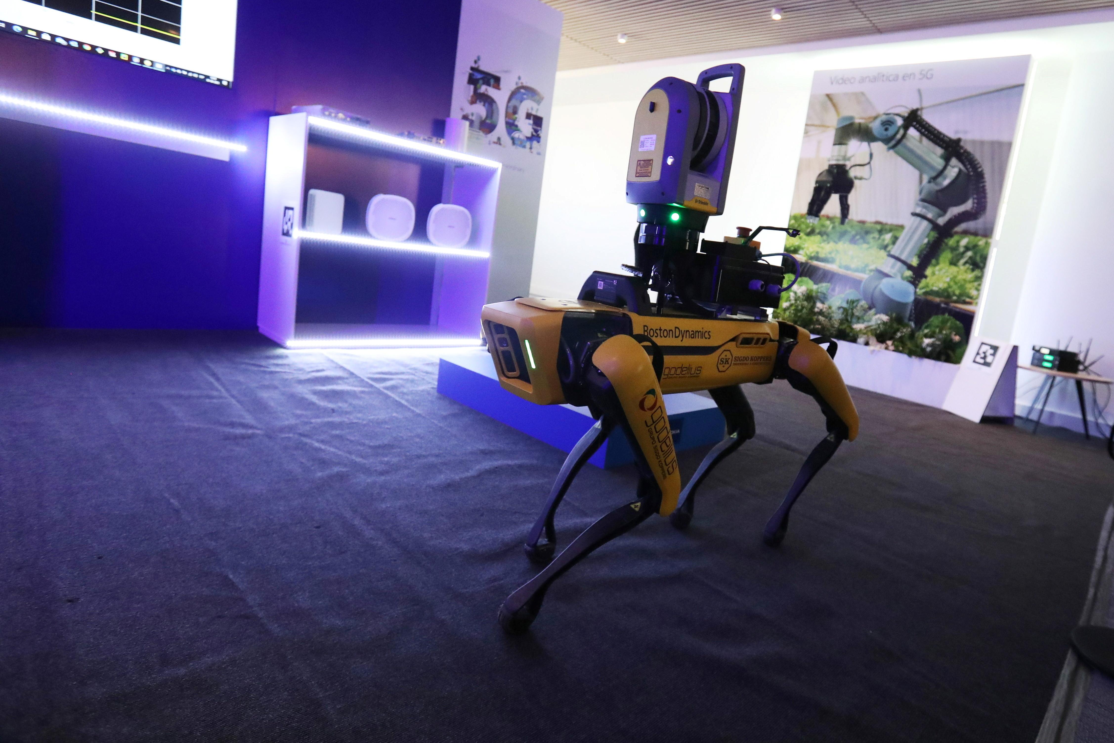 the Boston Dynamics' four-legged robot Spot is shown.