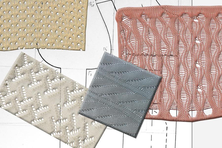 A number of polyethene fabrics.