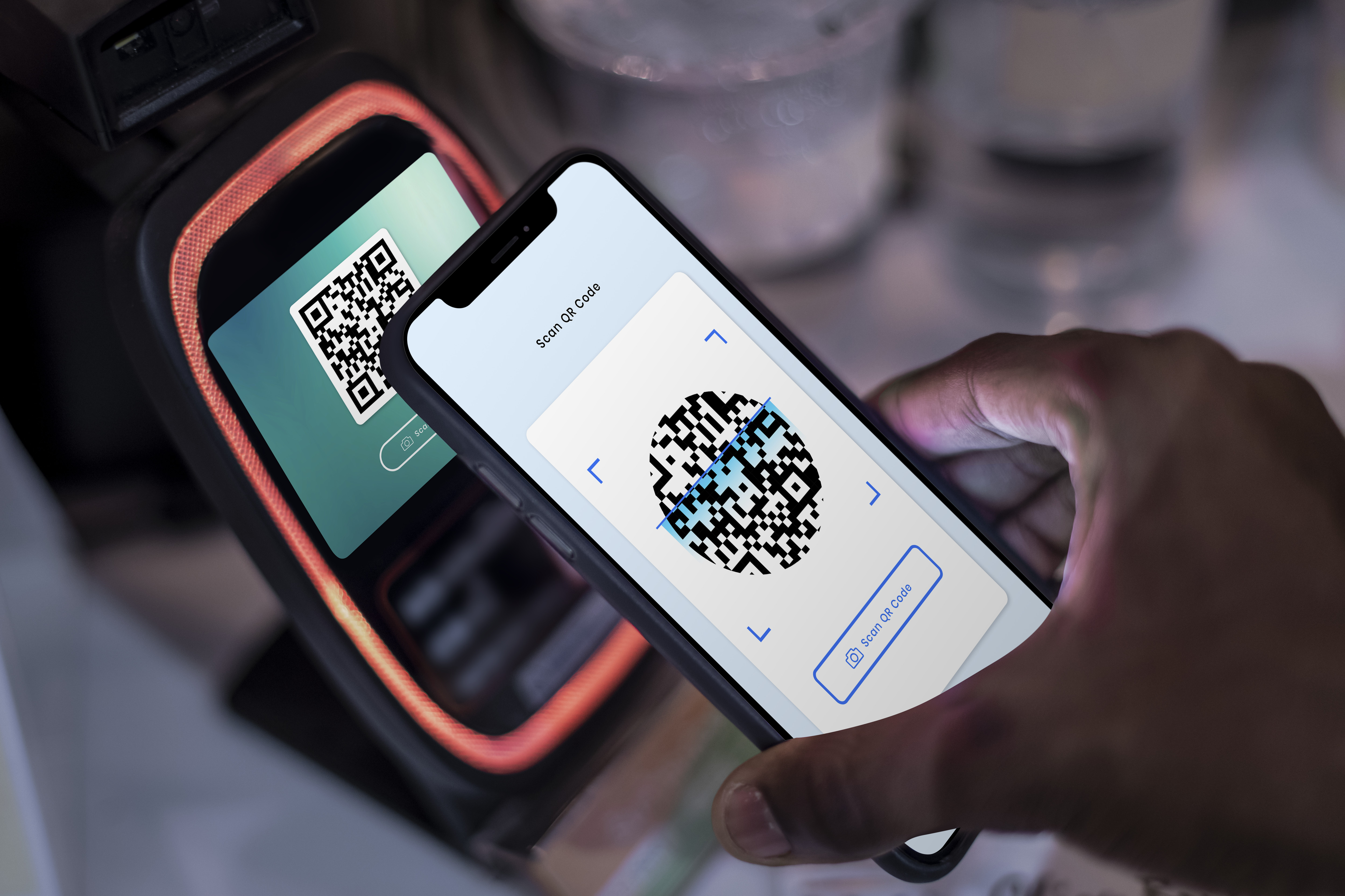 Contactless and cashless payment through qr code and mobile banking