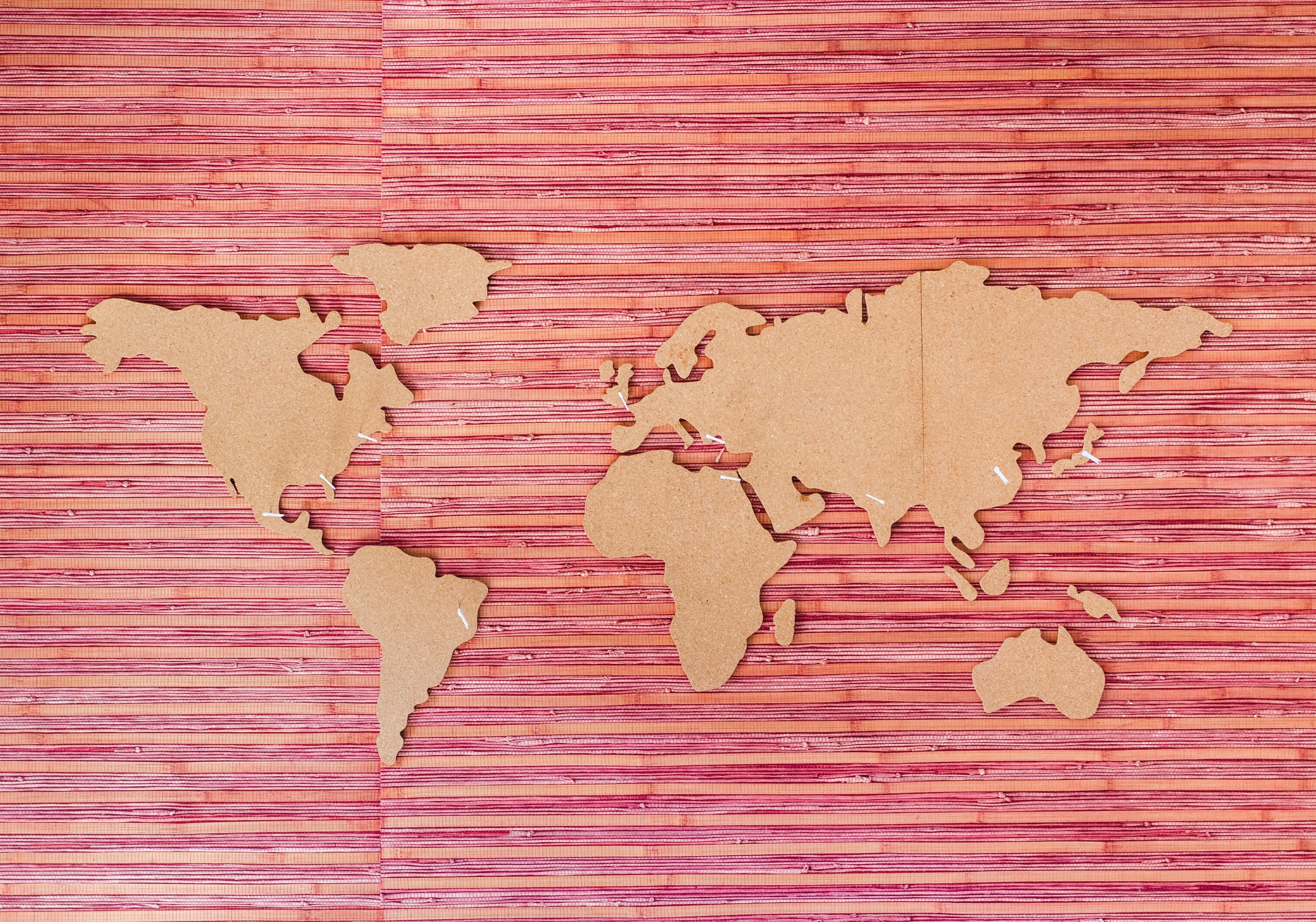 a art installation showing the world's landmass