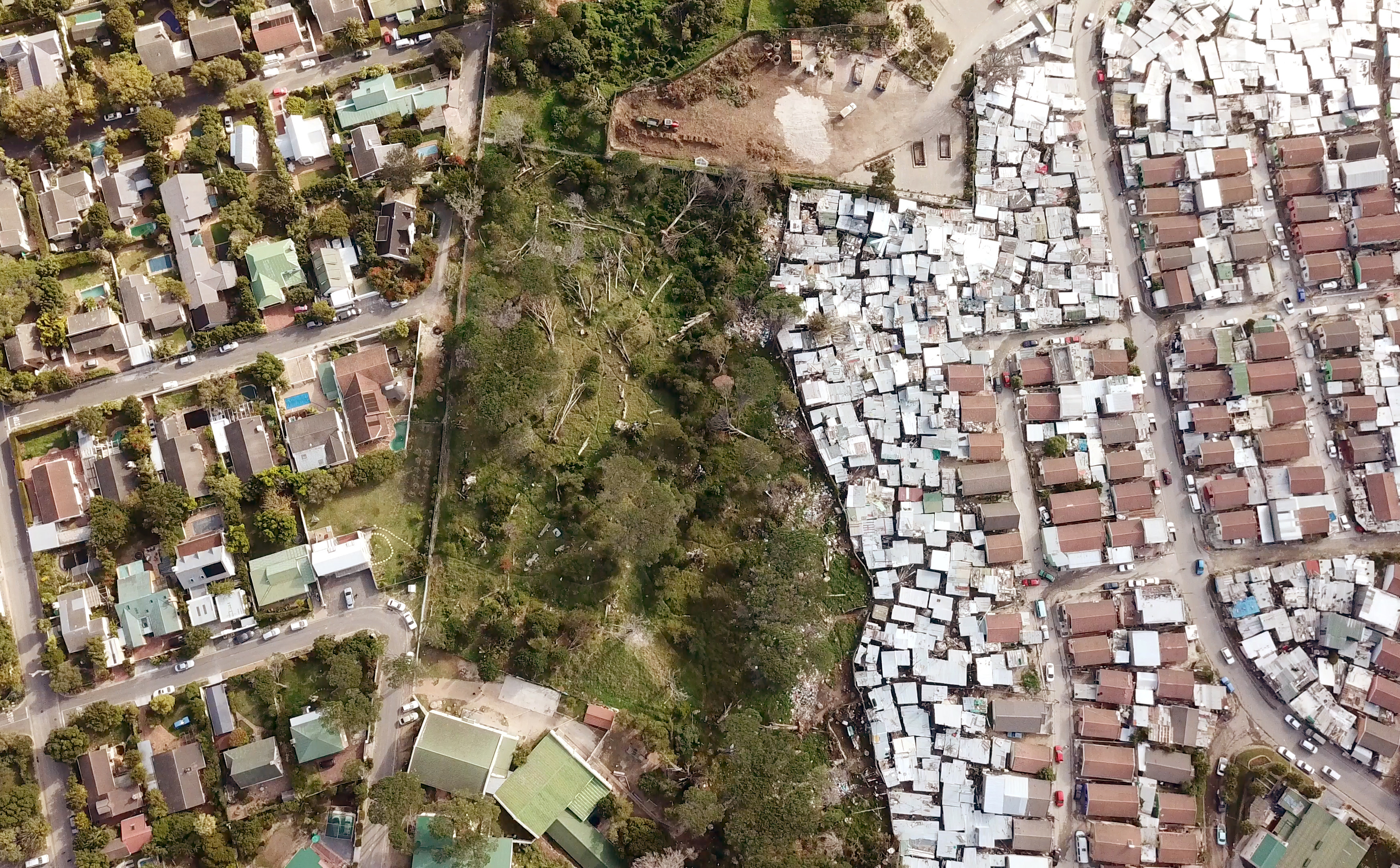 South African township from above