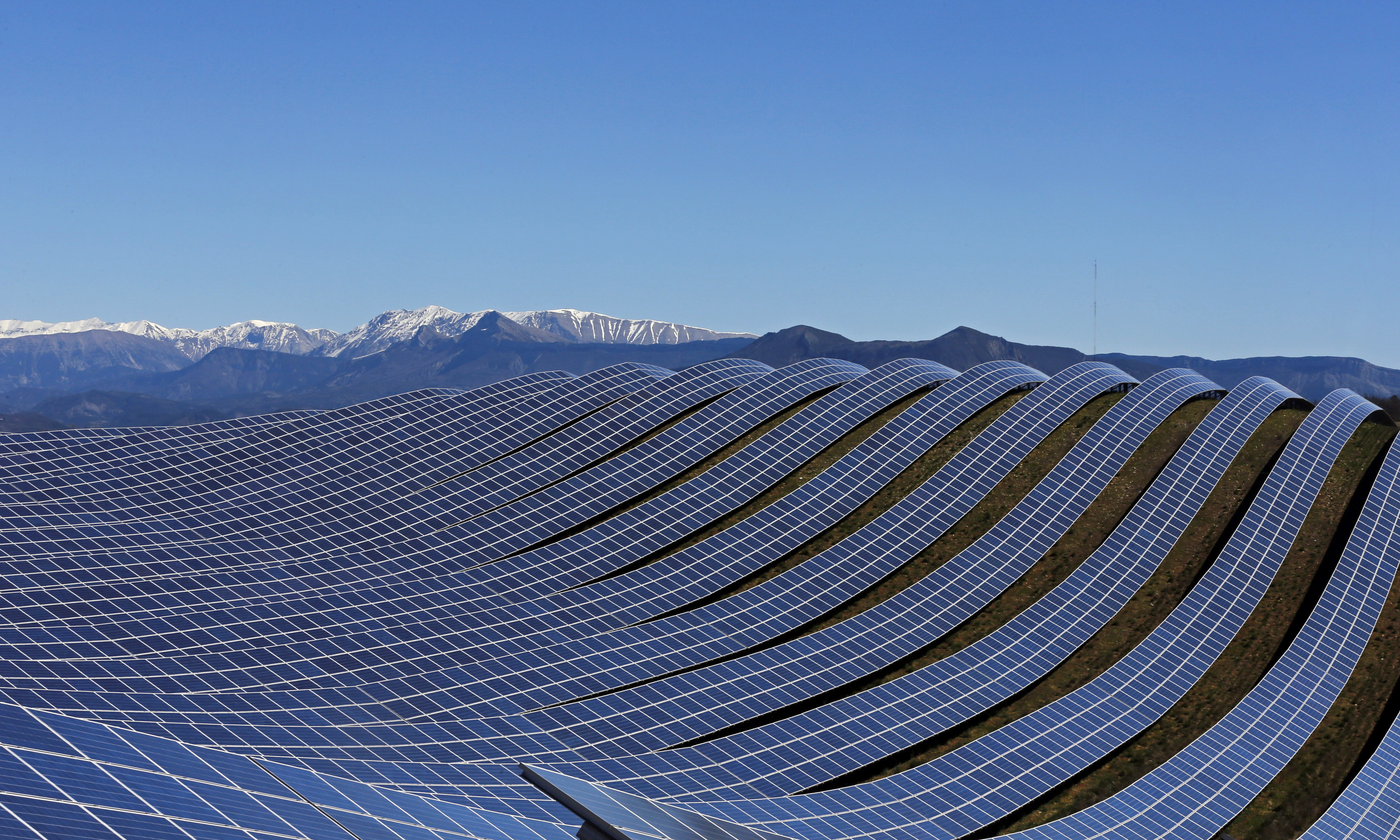A photovoltaic park in Les Mees, southern France.