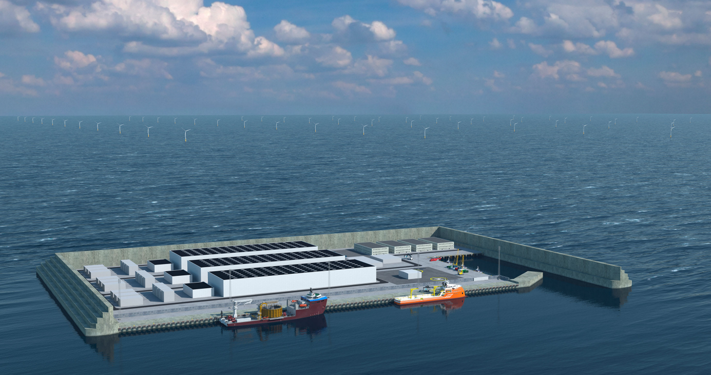 Danish artificial island wind energy hub
