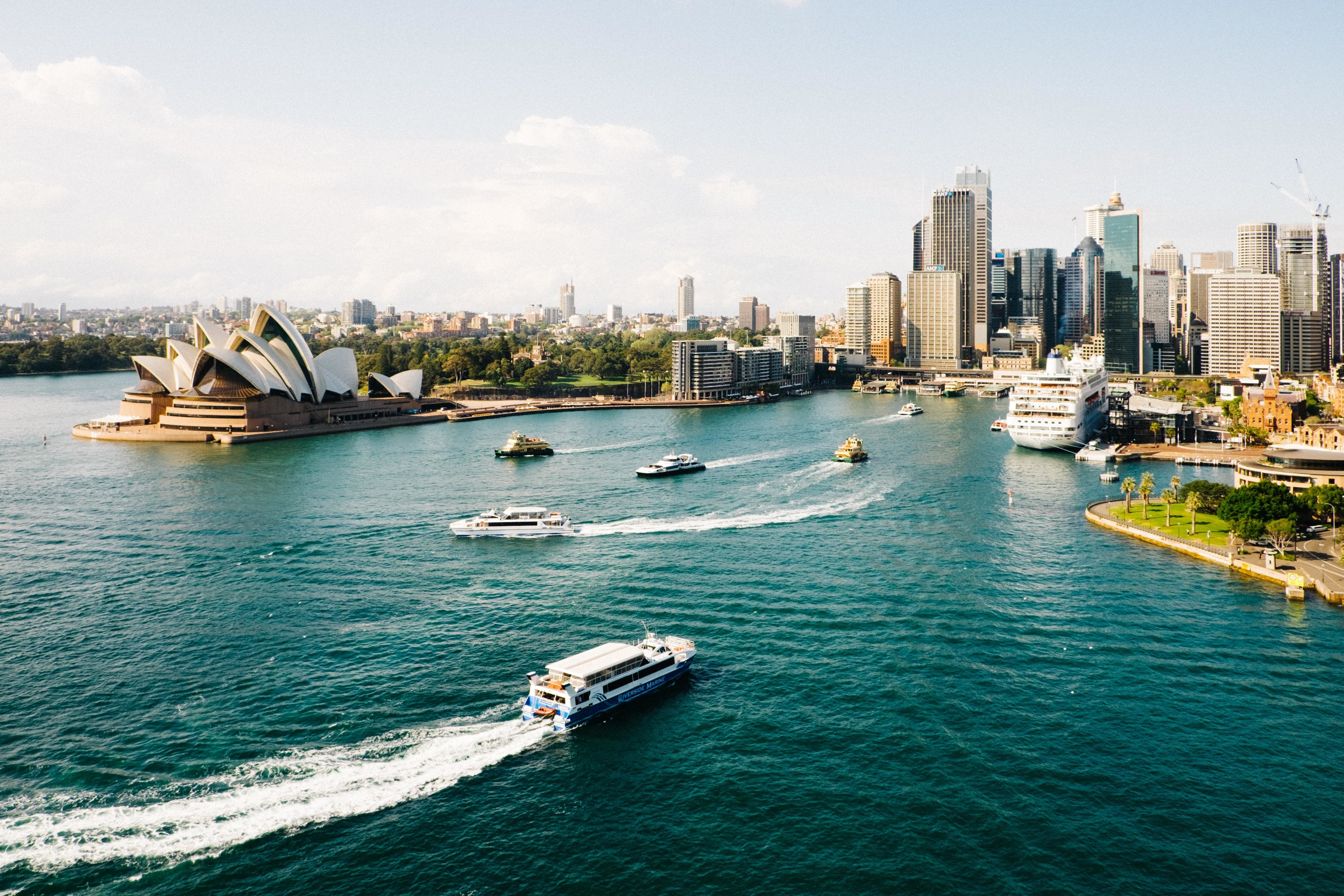 pictured is Sydney, Australia. The Western side of the city has faced intense heatwaves which ended in February
