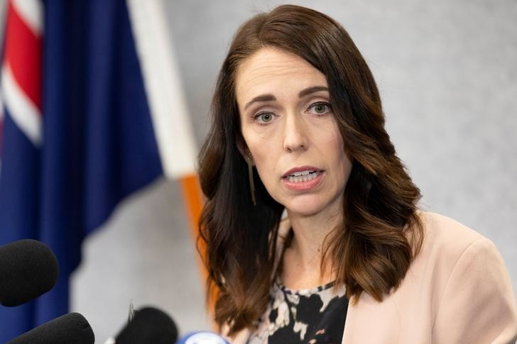 New Zealand Prime Minister Jacinda Ardern during a news conference prior to the anniversary of the mosque attacks that took place the prior year in Christchurch, New Zealand, March 13, 2020.  REUTERS/Martin Hunter