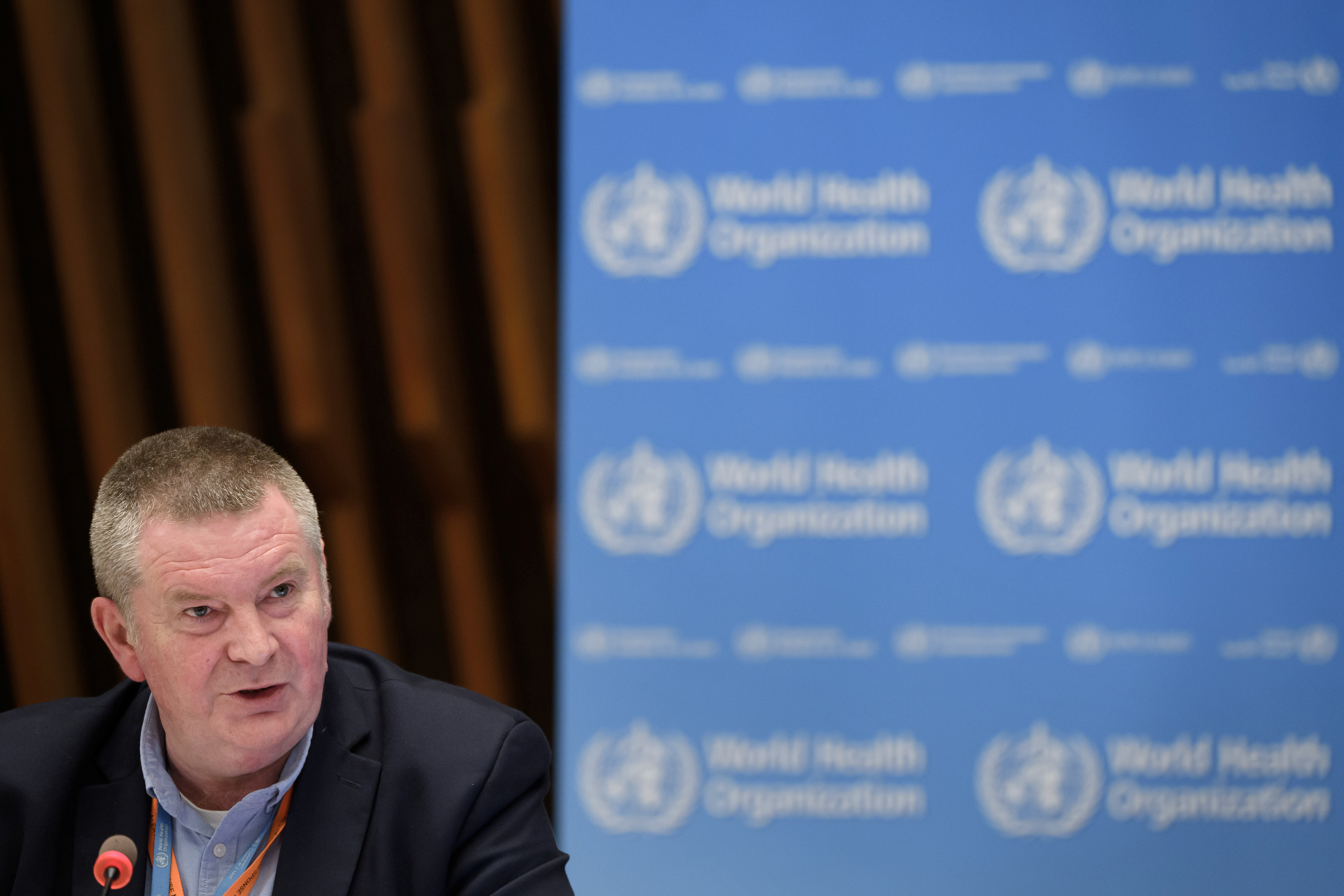 WHO Health Emergencies Programme head Michael Ryan attends a news conference organized by Geneva Association of United Nations Correspondents (ACANU) amid the COVID-19 outbreak, caused by the novel coronavirus, at the WHO headquarters in Geneva, Switzerland July 3, 2020. Fabrice Coffrini/Pool via REUTERS - RC2SLH93JUWY