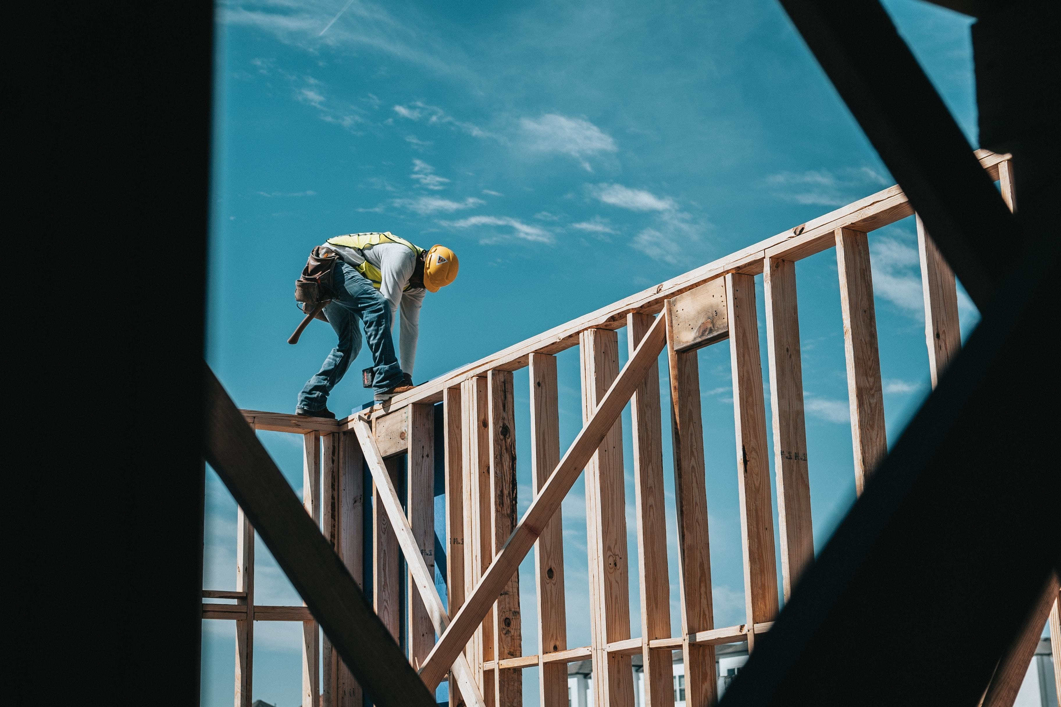 physically demanding jobs, such as this man constructing a building, could potentially lead to problems such as kidney disease