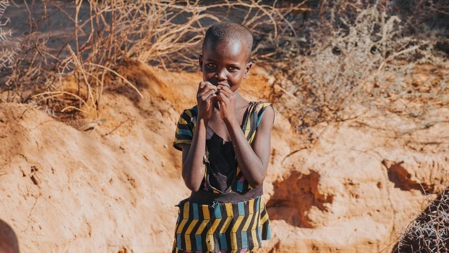 This little girl was 10 feet underground in a rough dug well in a dried out river in rural Kenya.