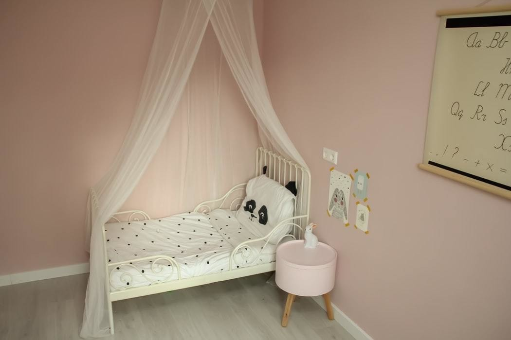 A child's bedroom is pictured.
