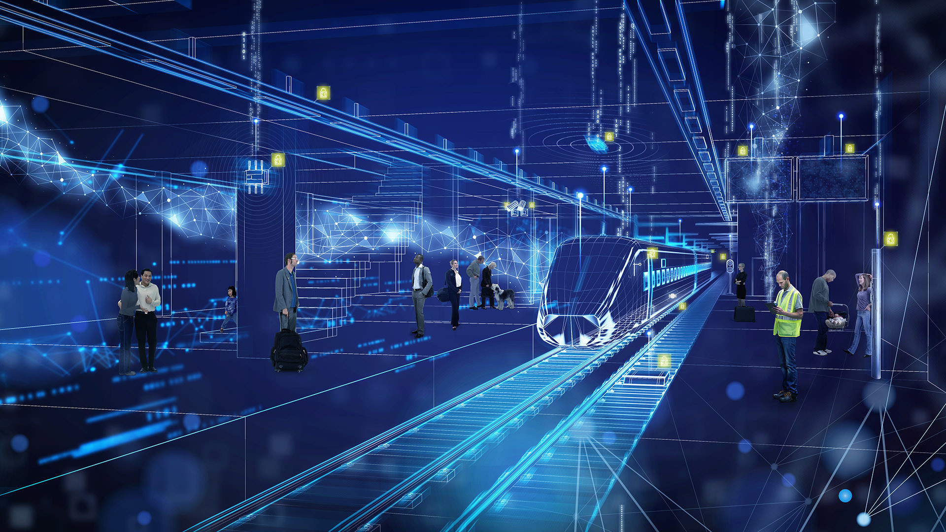 Representation of a digital subway.