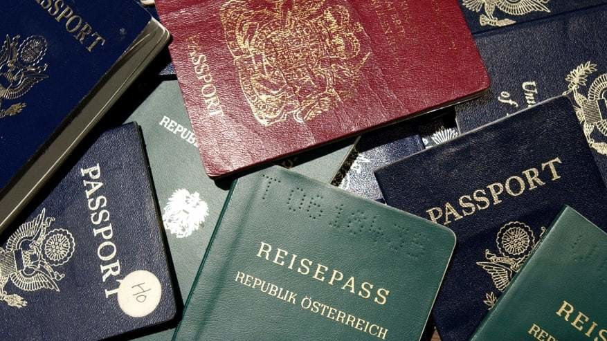 A number of different passports.