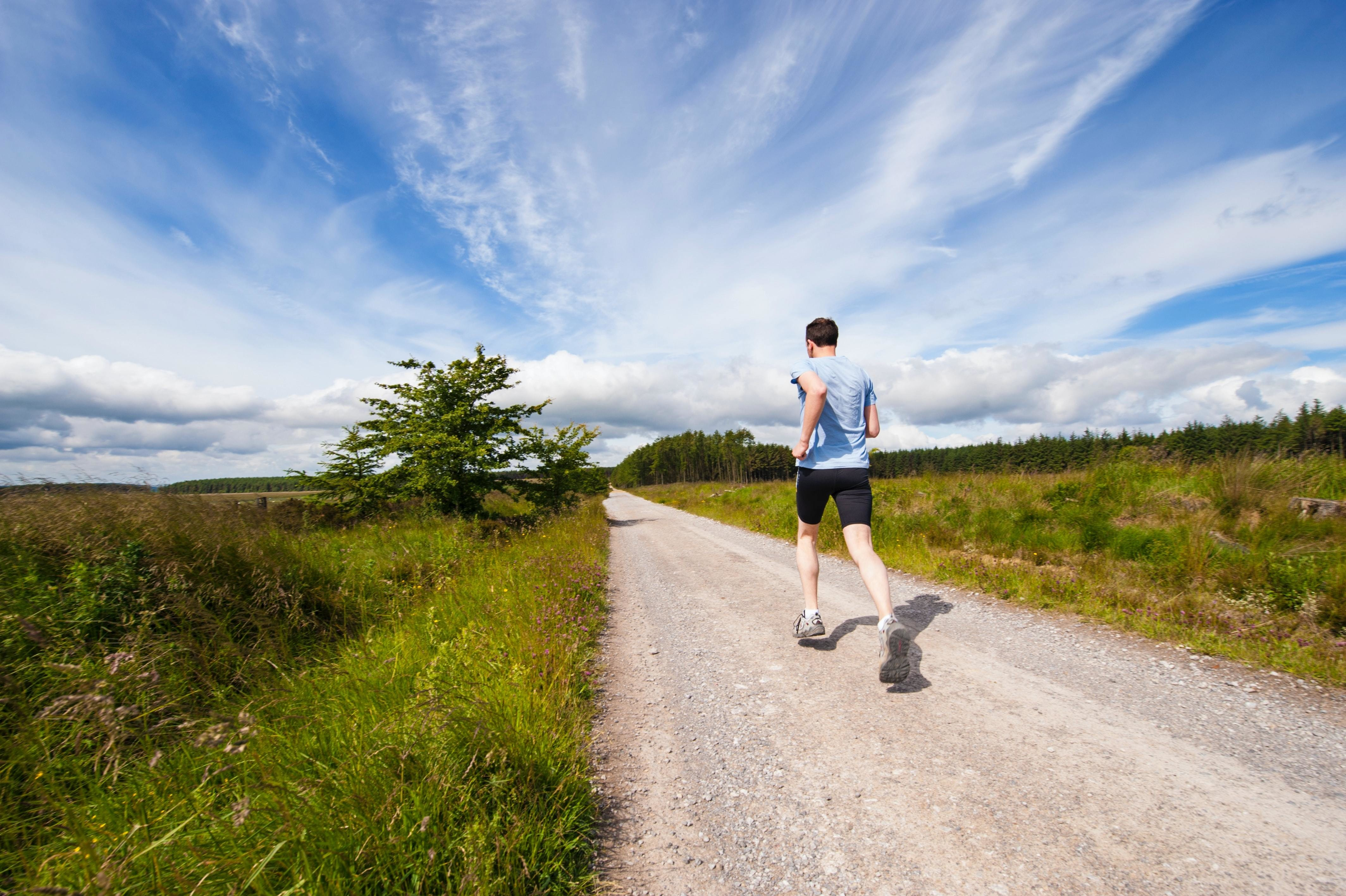 exercise, like this person running here, is proven to keep us fit and healthy