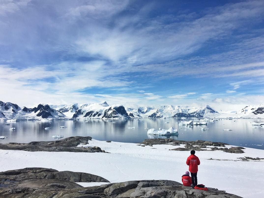 Scientists in Antarctica.