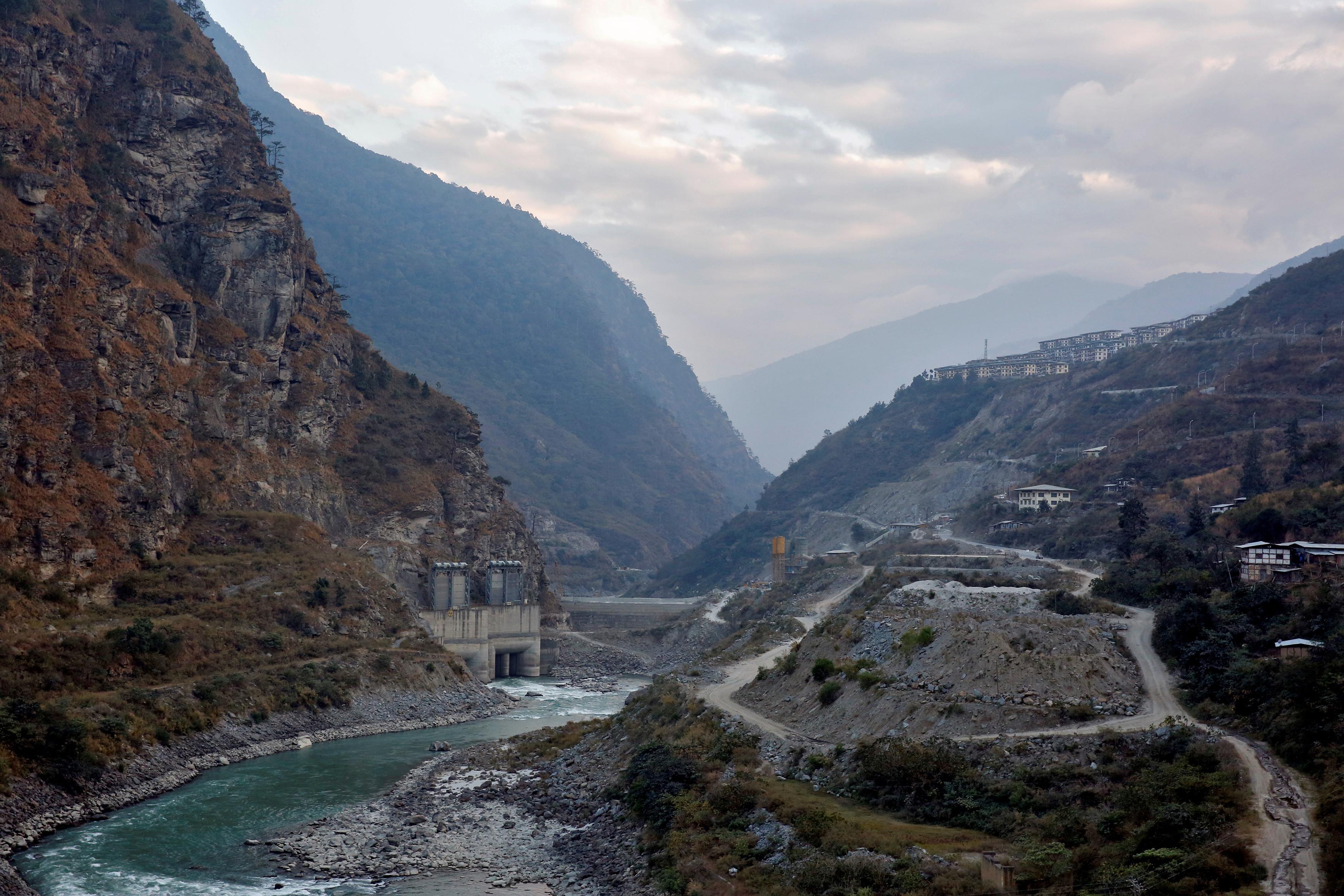 The Punatsangchu hydroelectric power project in Bhutan, December 13, 2017
