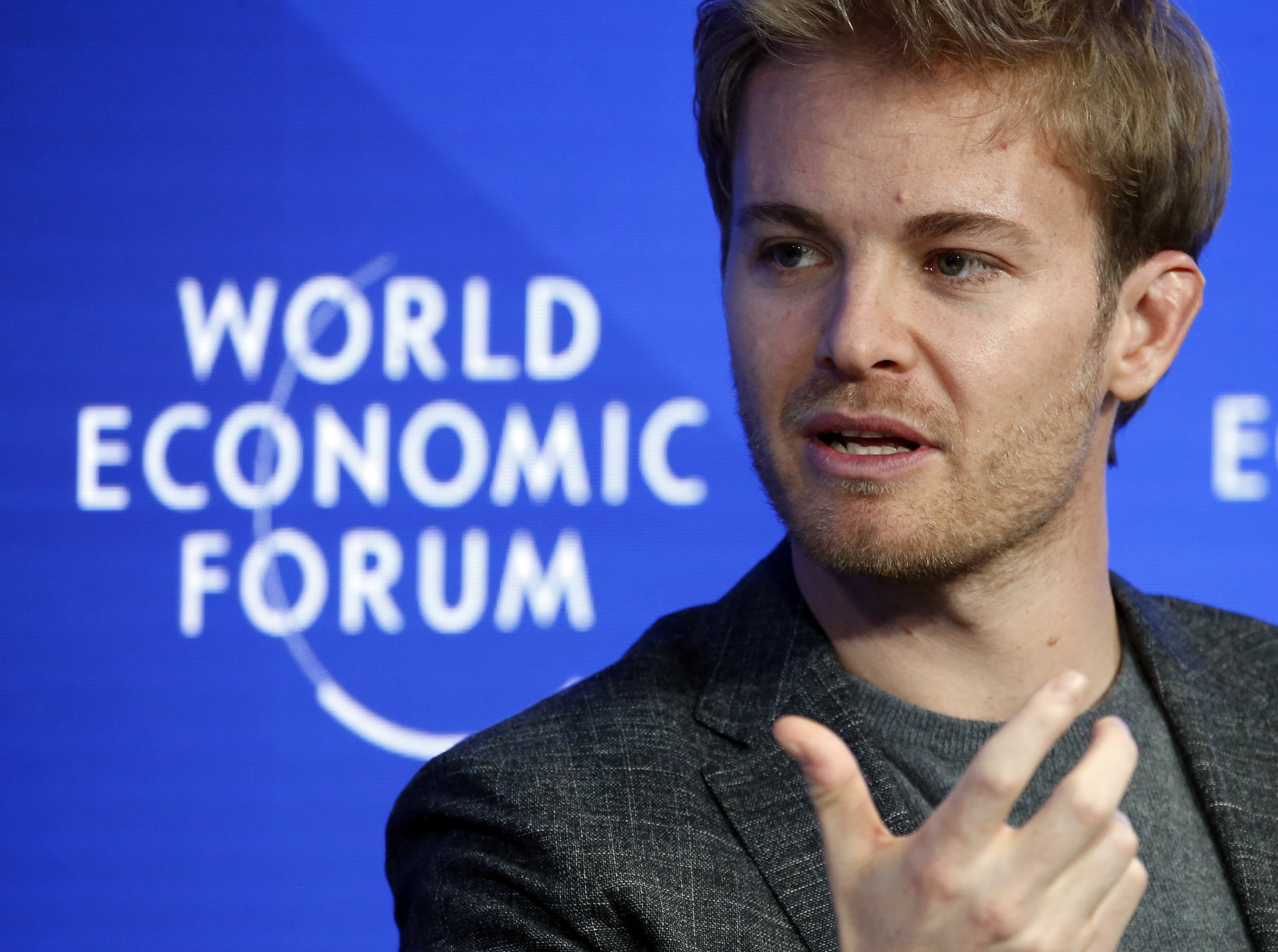 Former Formula One driver Nico Rosberg of Germany attends the World Economic Forum (WEF) annual meeting in Davos, Switzerland January 20, 2017.  REUTERS/Ruben Sprich - LR1ED1K15NJ9S
