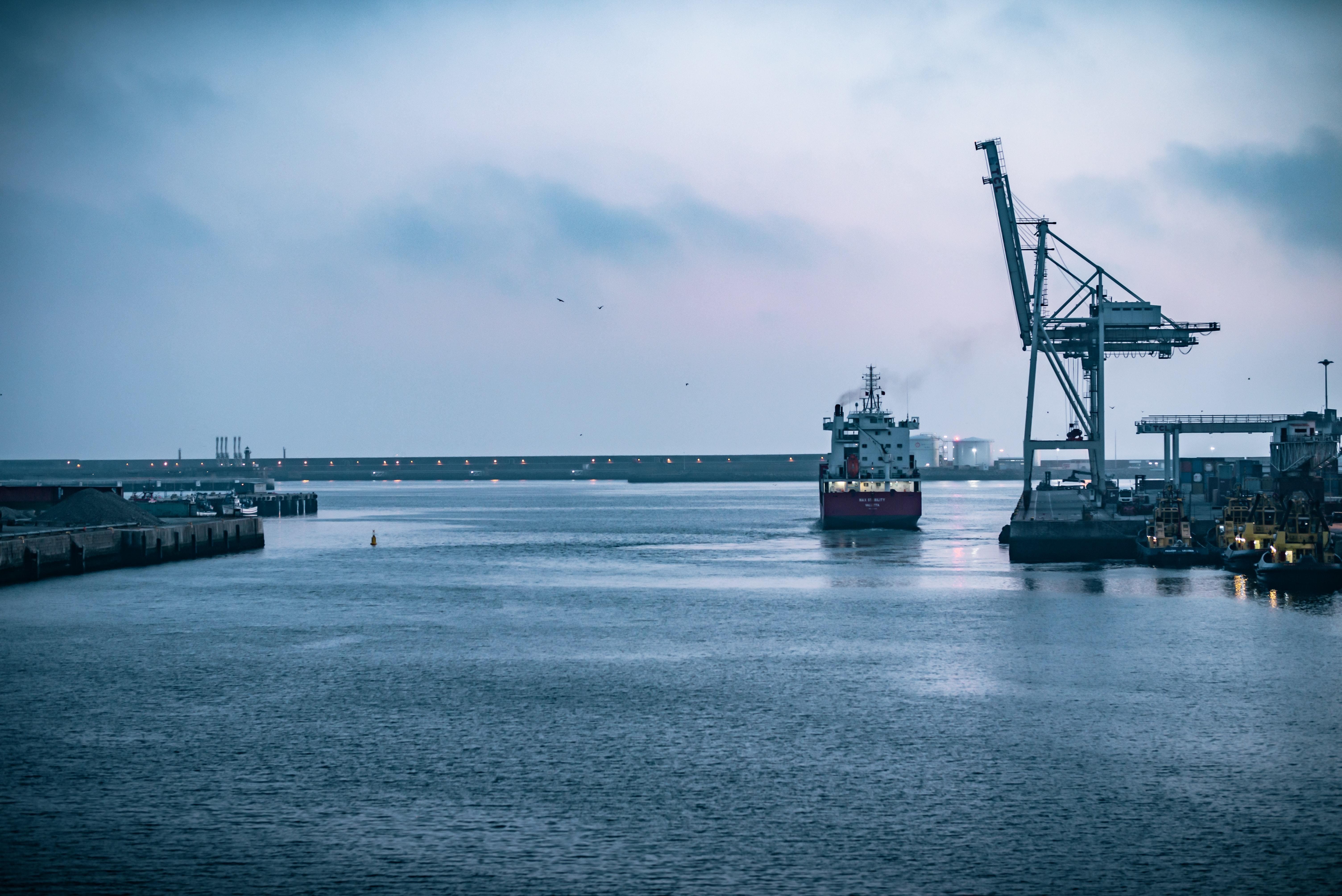 this is the sea trade port in Matosinhos, Porto