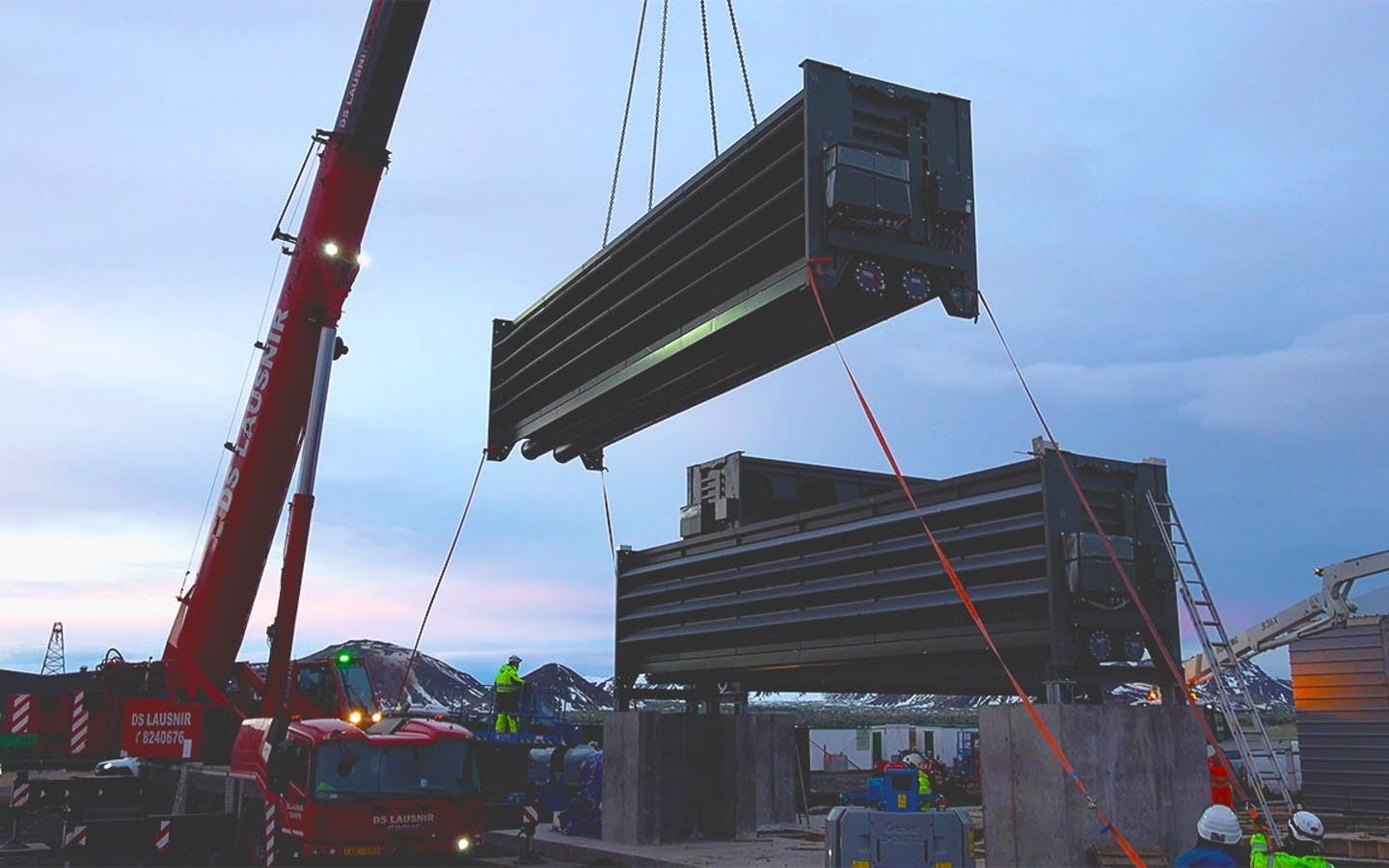 image of the new Climeworks plant in southwest Iceland being constructed