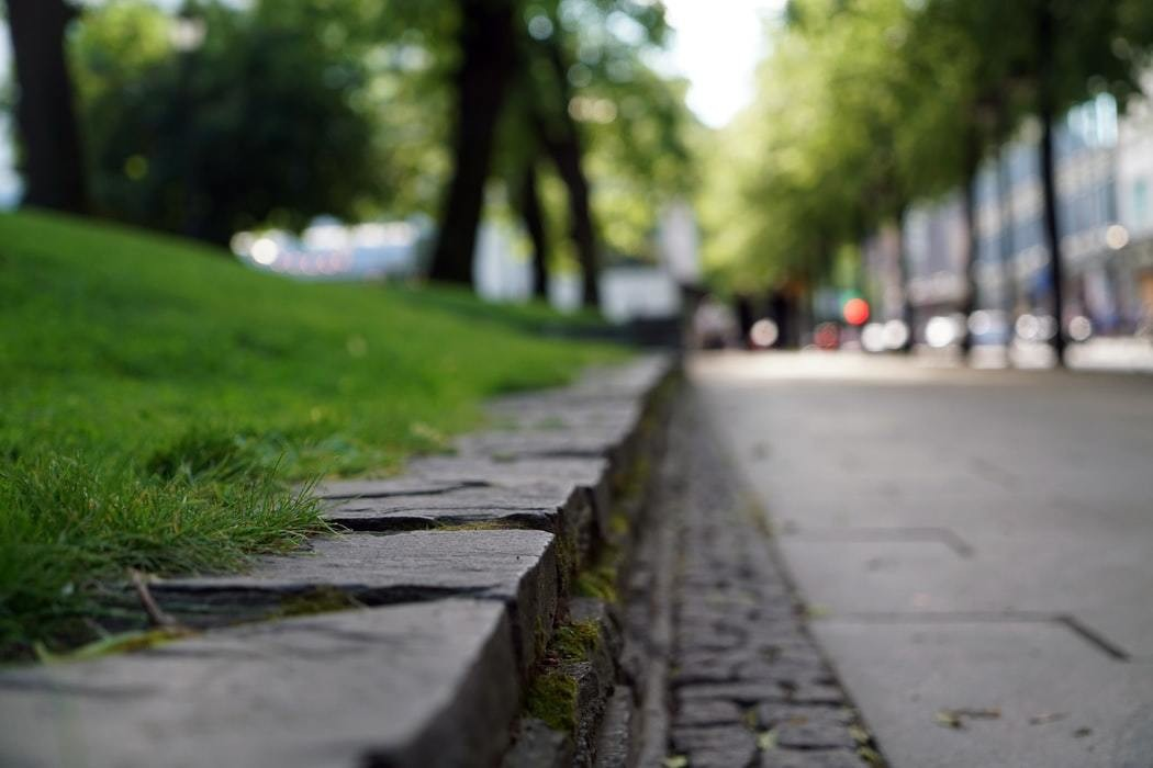A pavement, a cause of warming cities due to radiation, is pictured up close.