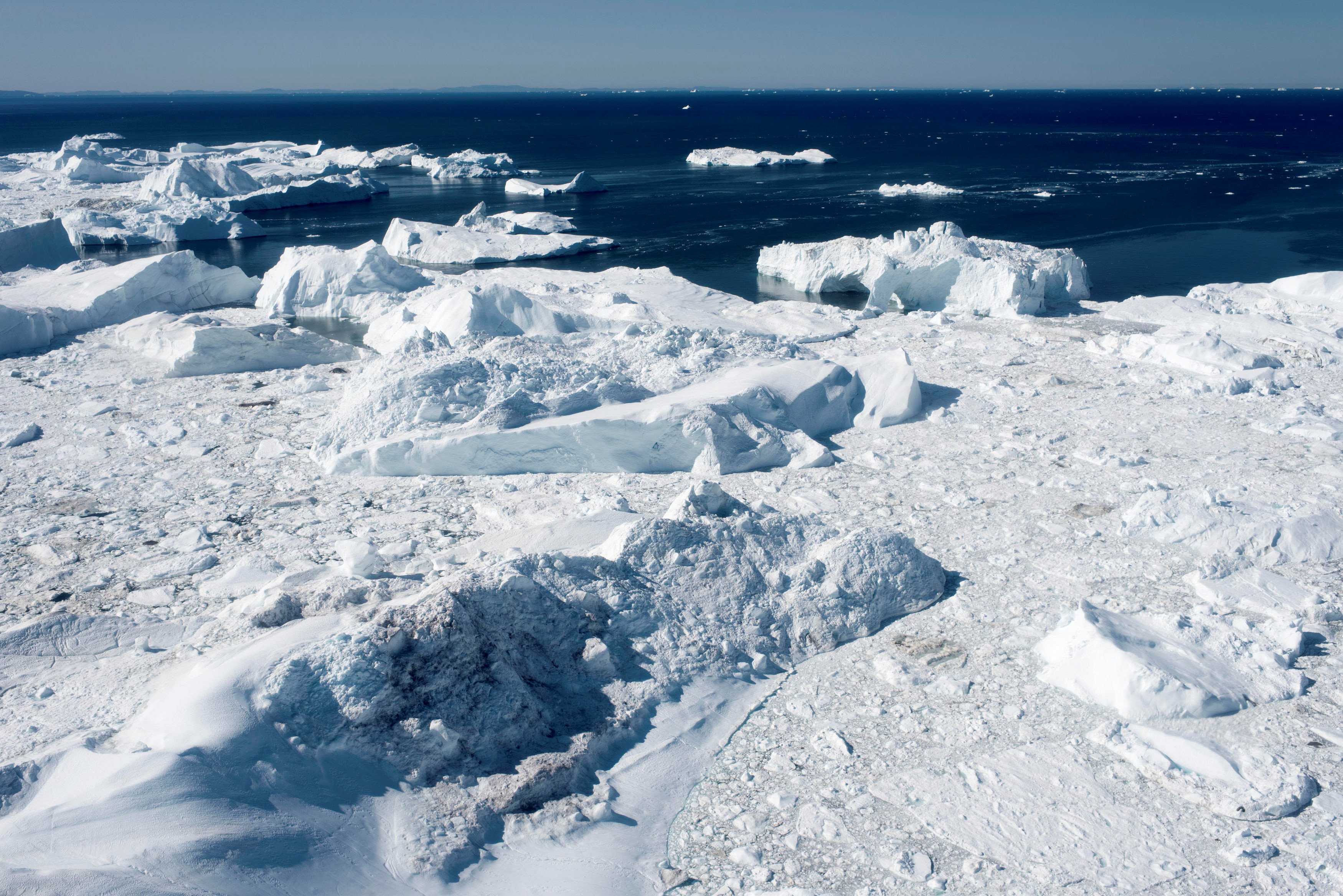Ilulissat, icefjord which is on the list of UNESCO World Heritage is seen in western Greenland, Denmark July 15, 2015. Picture taken July 15, 2015.   Ritzau Scanpix/Linda Kastrup via REUTERS    ATTENTION EDITORS - THIS IMAGE WAS PROVIDED BY A THIRD PARTY. DENMARK OUT. - RC1D6CEF5E40