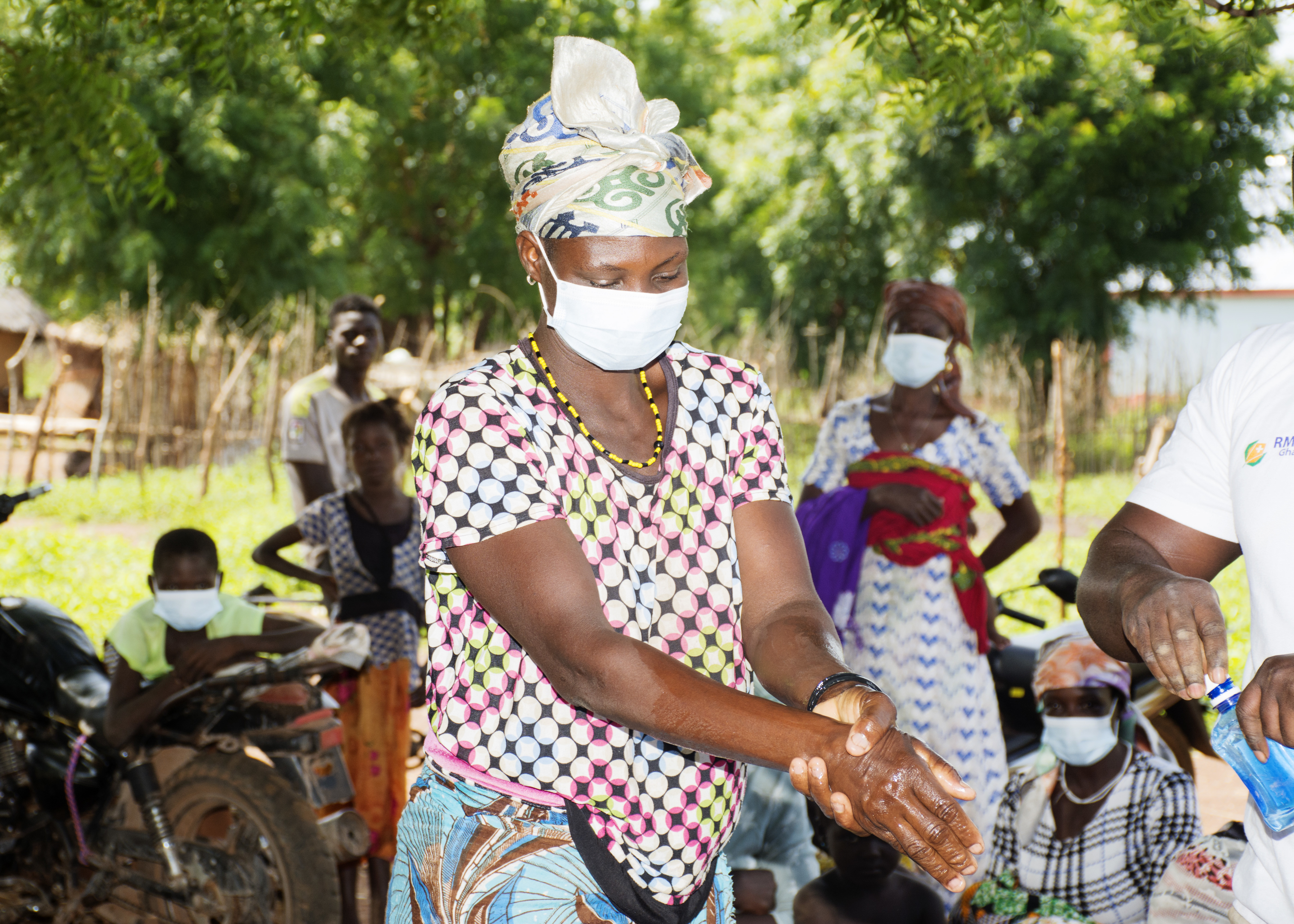 Farmer educational campaign on W.H.O safety protocols in Tumu, Upper West Region, Ghana