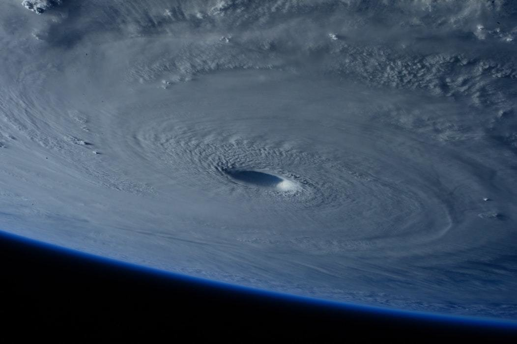 Photo of hurricane from space.
