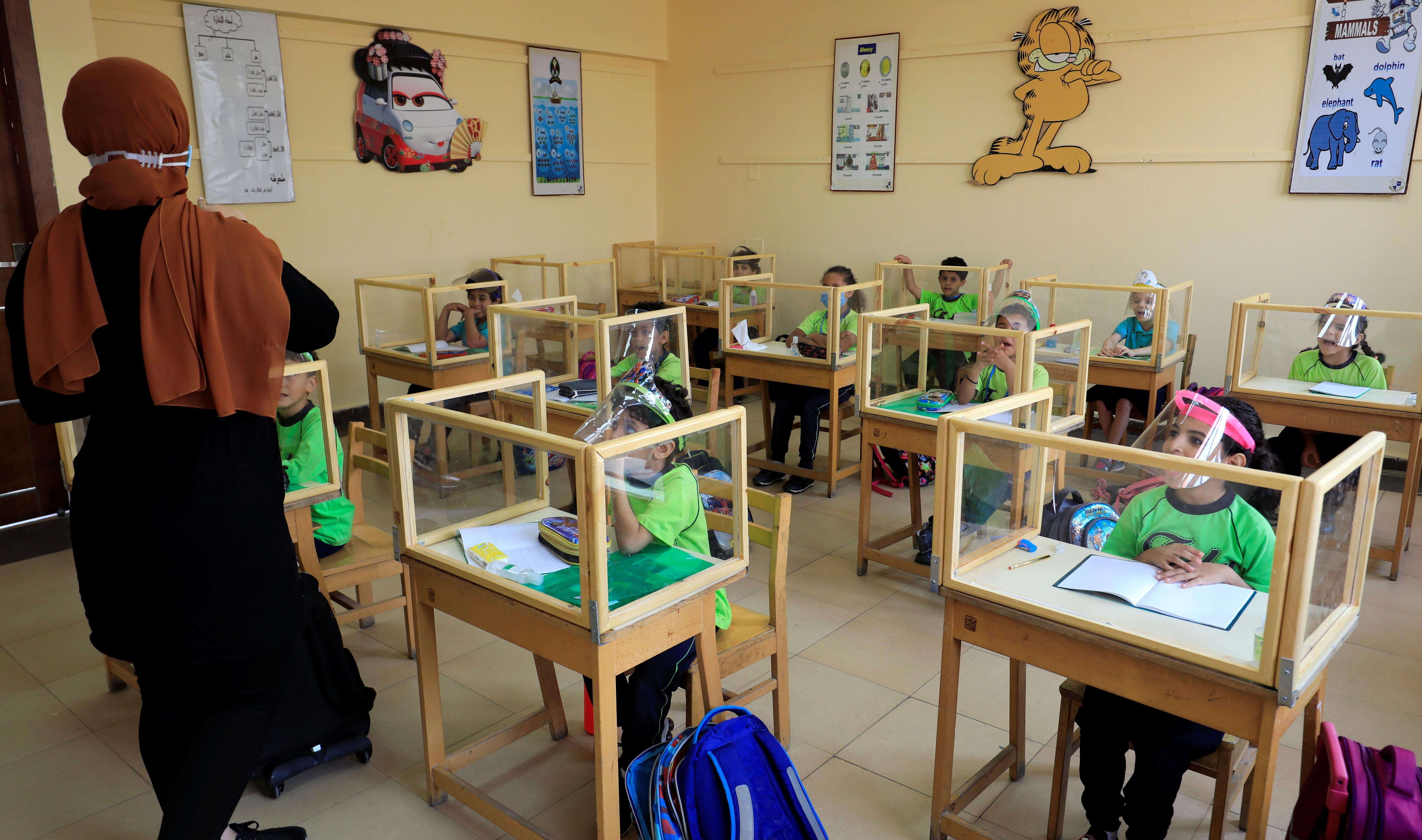A classroom in Cairo