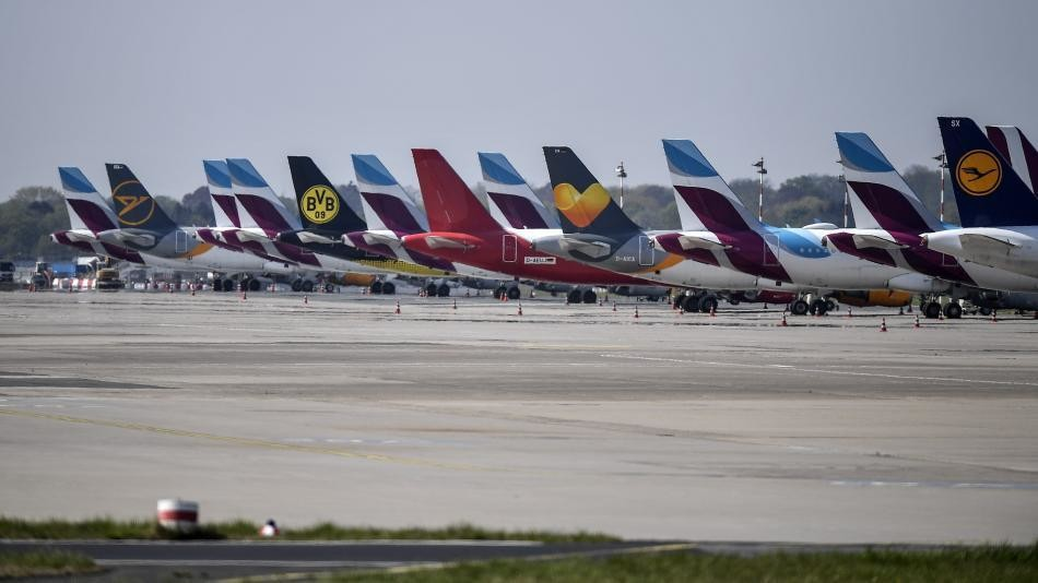 Airlines are facing a dramatic drop in air traffic—and emissions—because of coronavirus related travel restrictions.
