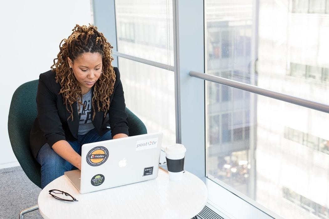 image of a Black woman working